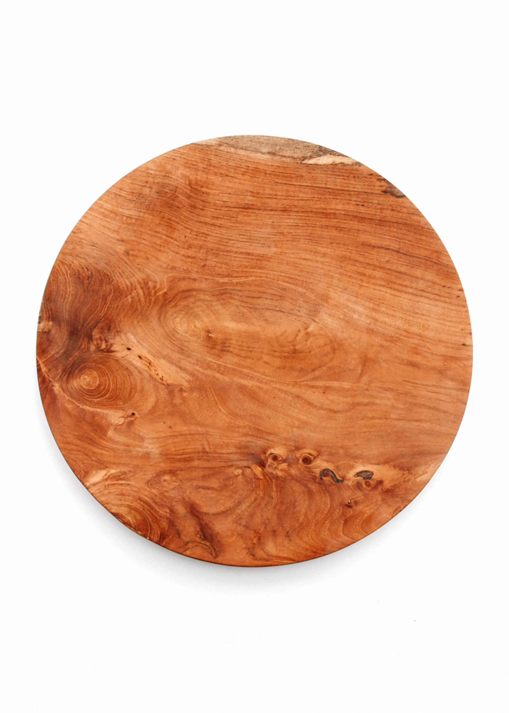 The Teak Root Round Plate - XS
