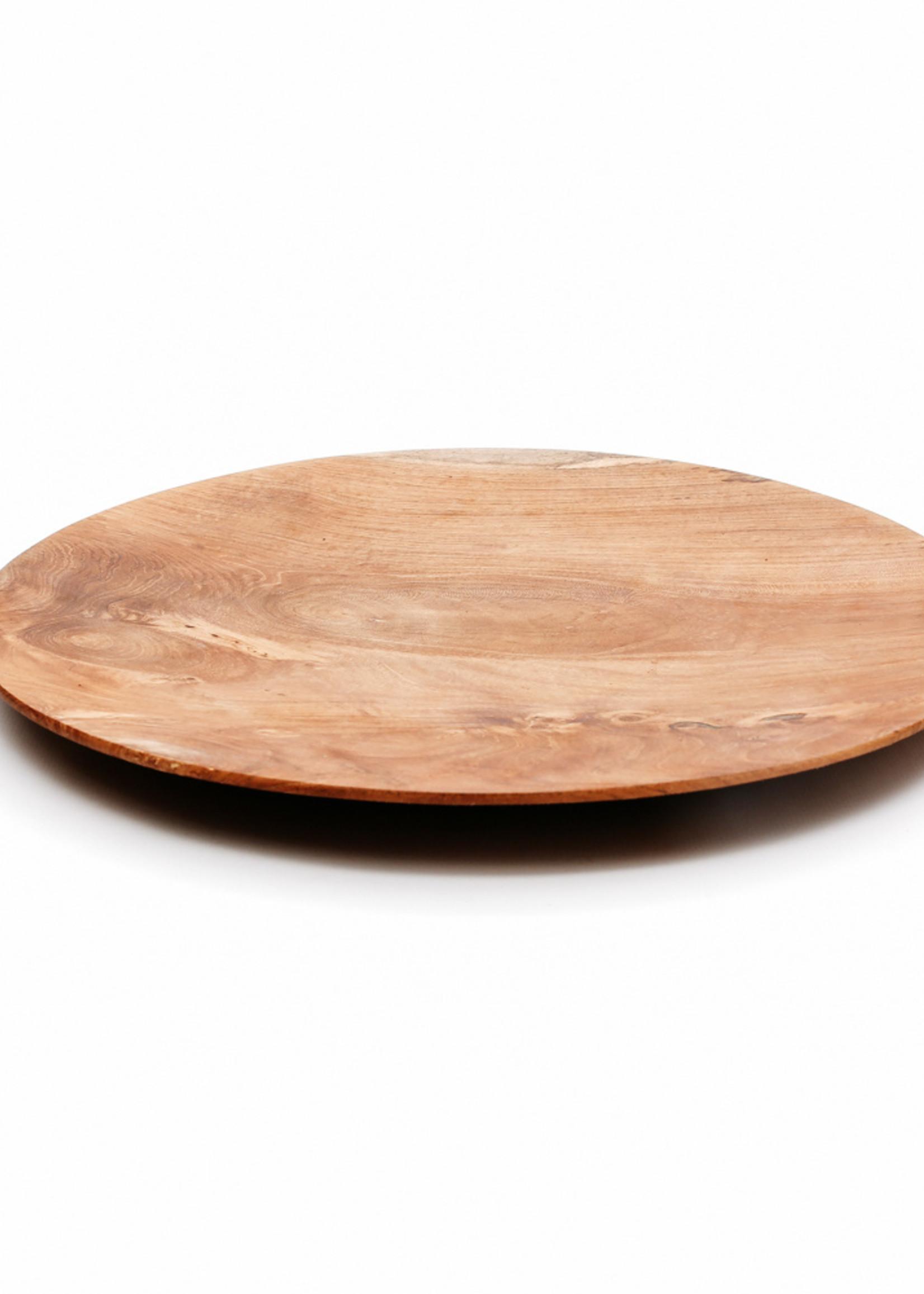 The Teak Root Round Plate - M
