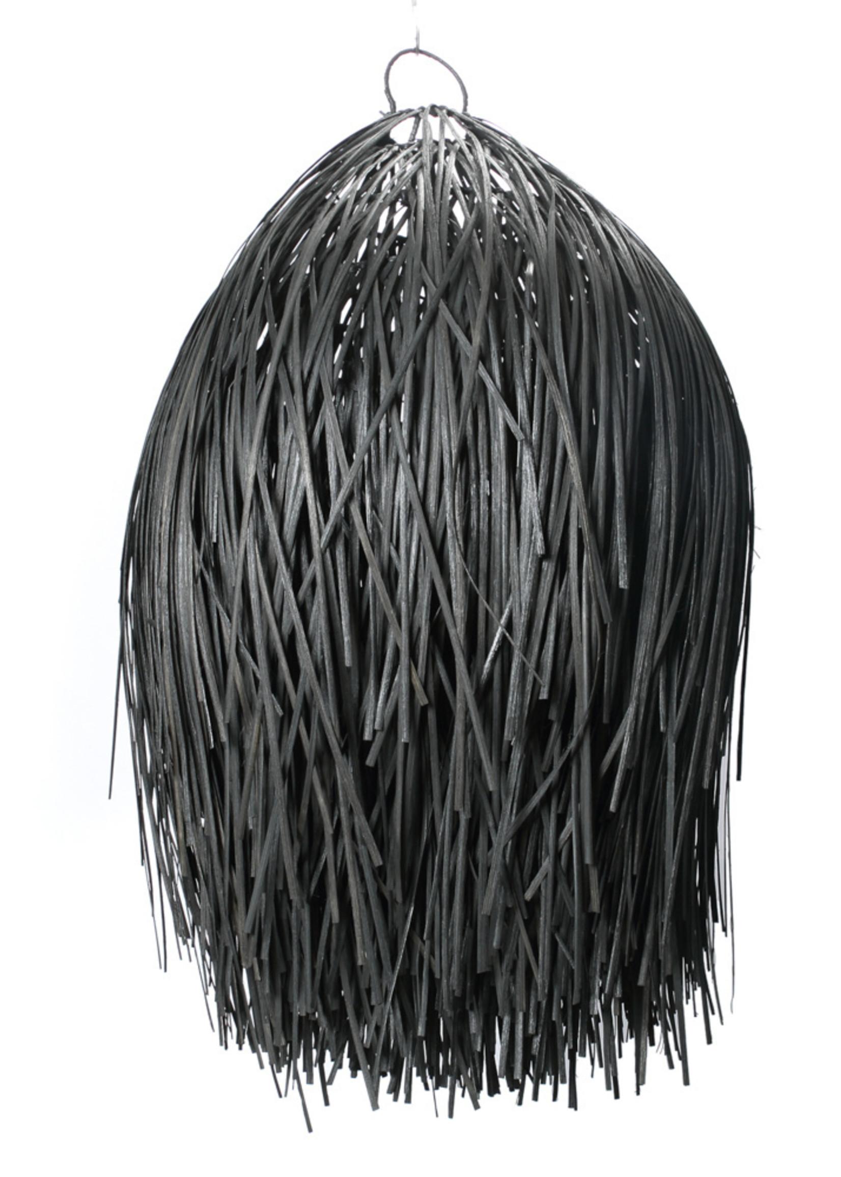 The Rattan Shaggy Pendant - Black - L