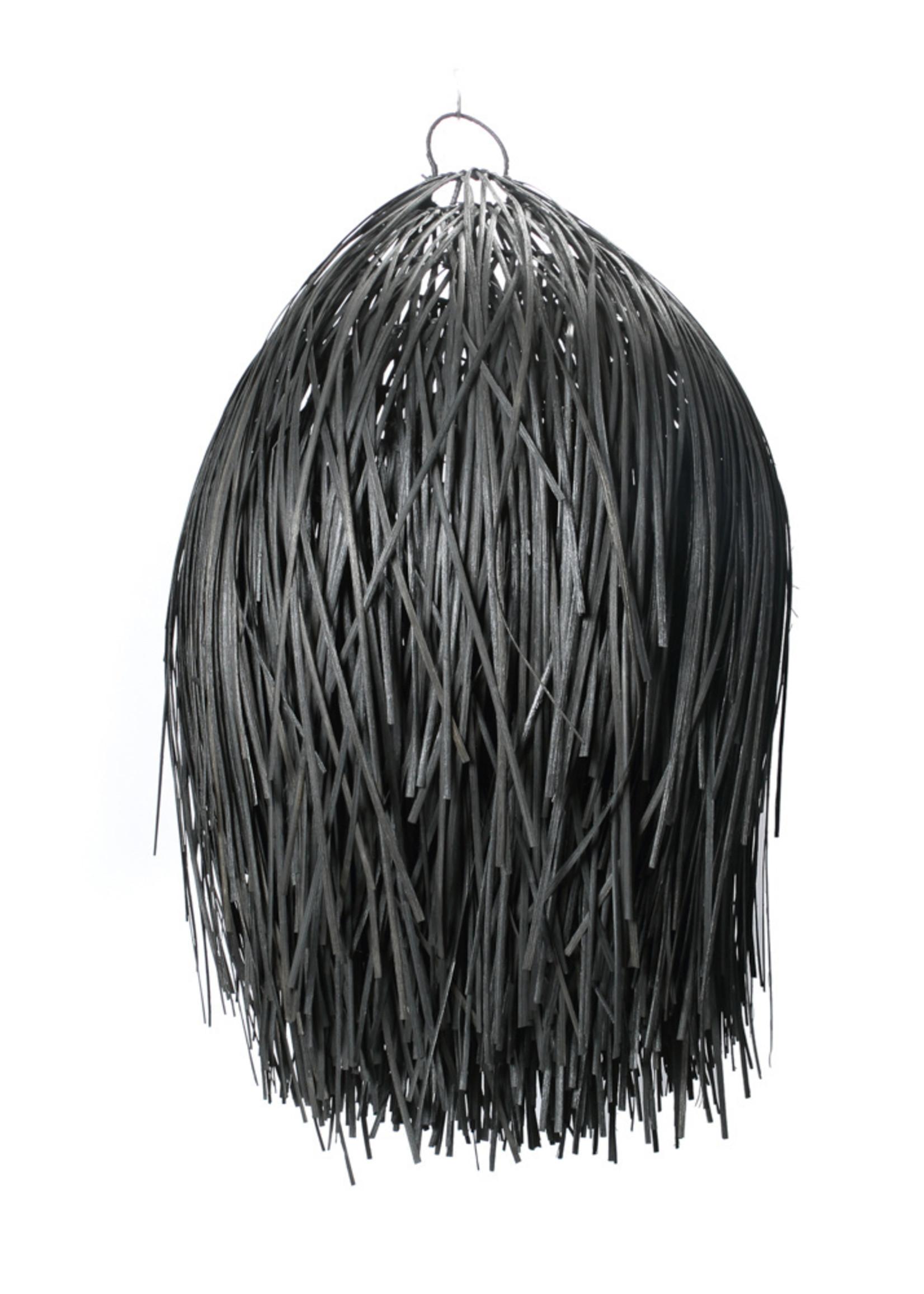 The Rattan Shaggy Pendant - Black - M