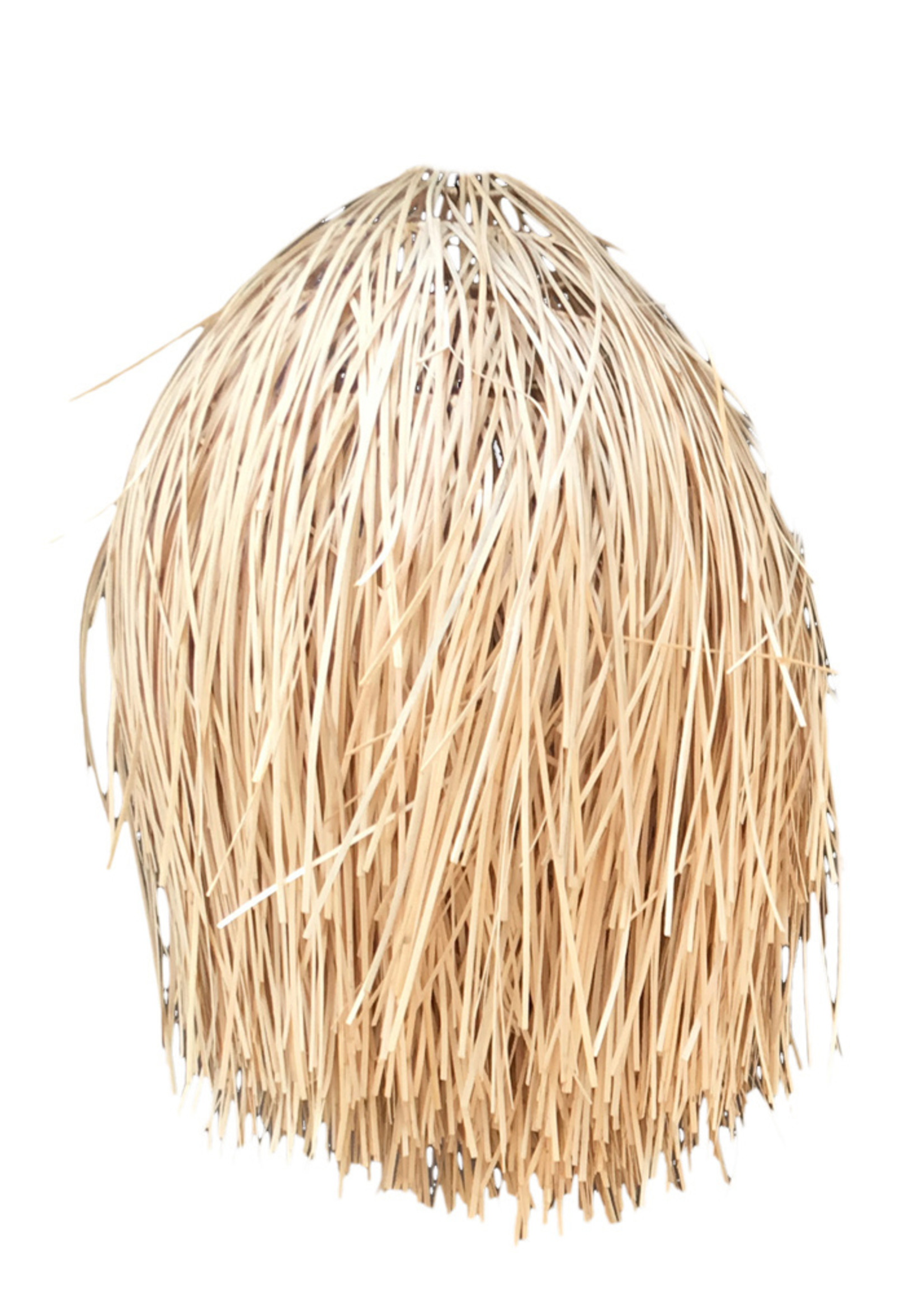 The Rattan Shaggy Pendant - Natural - L
