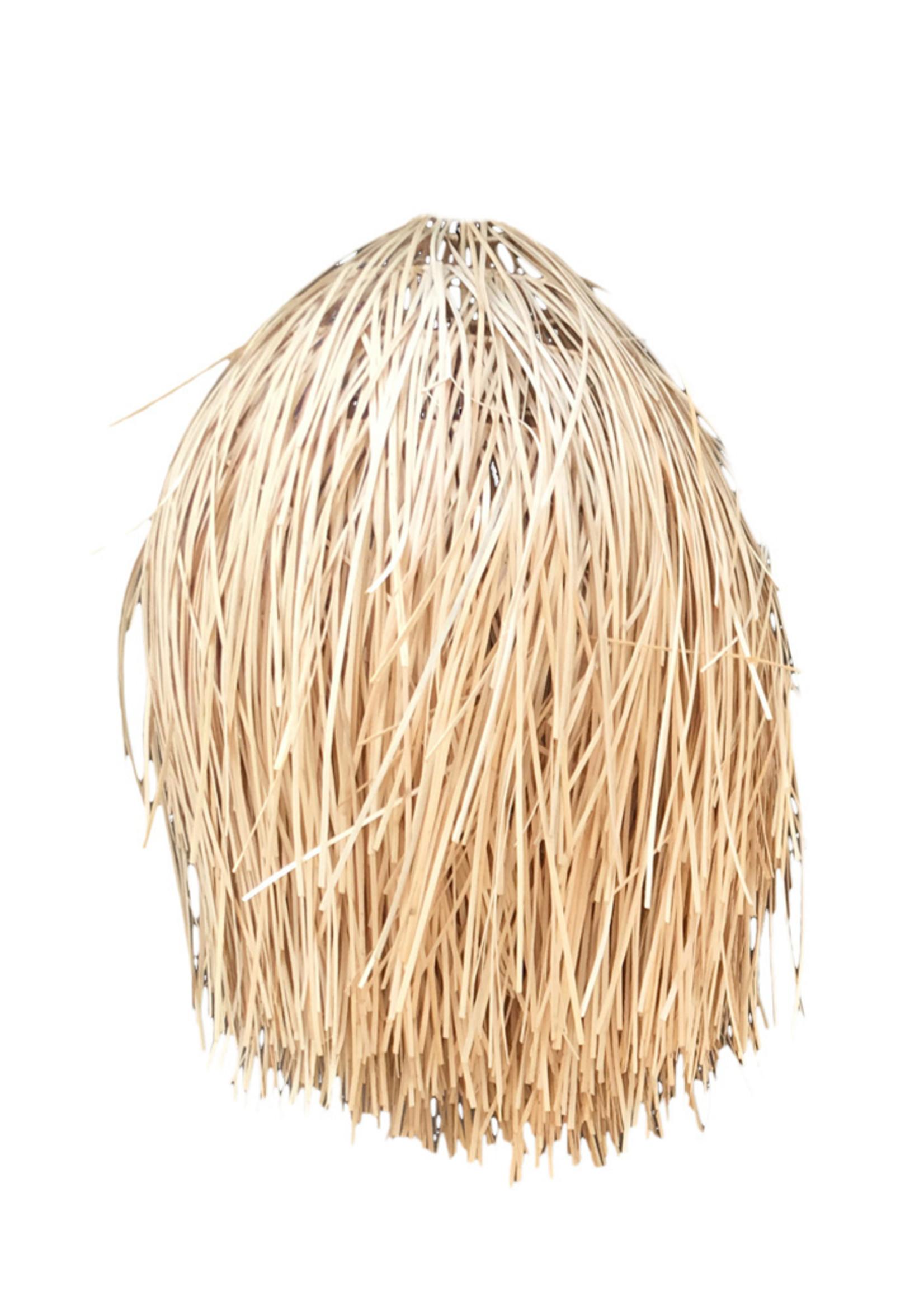 The Rattan Shaggy Pendant - Natural - M