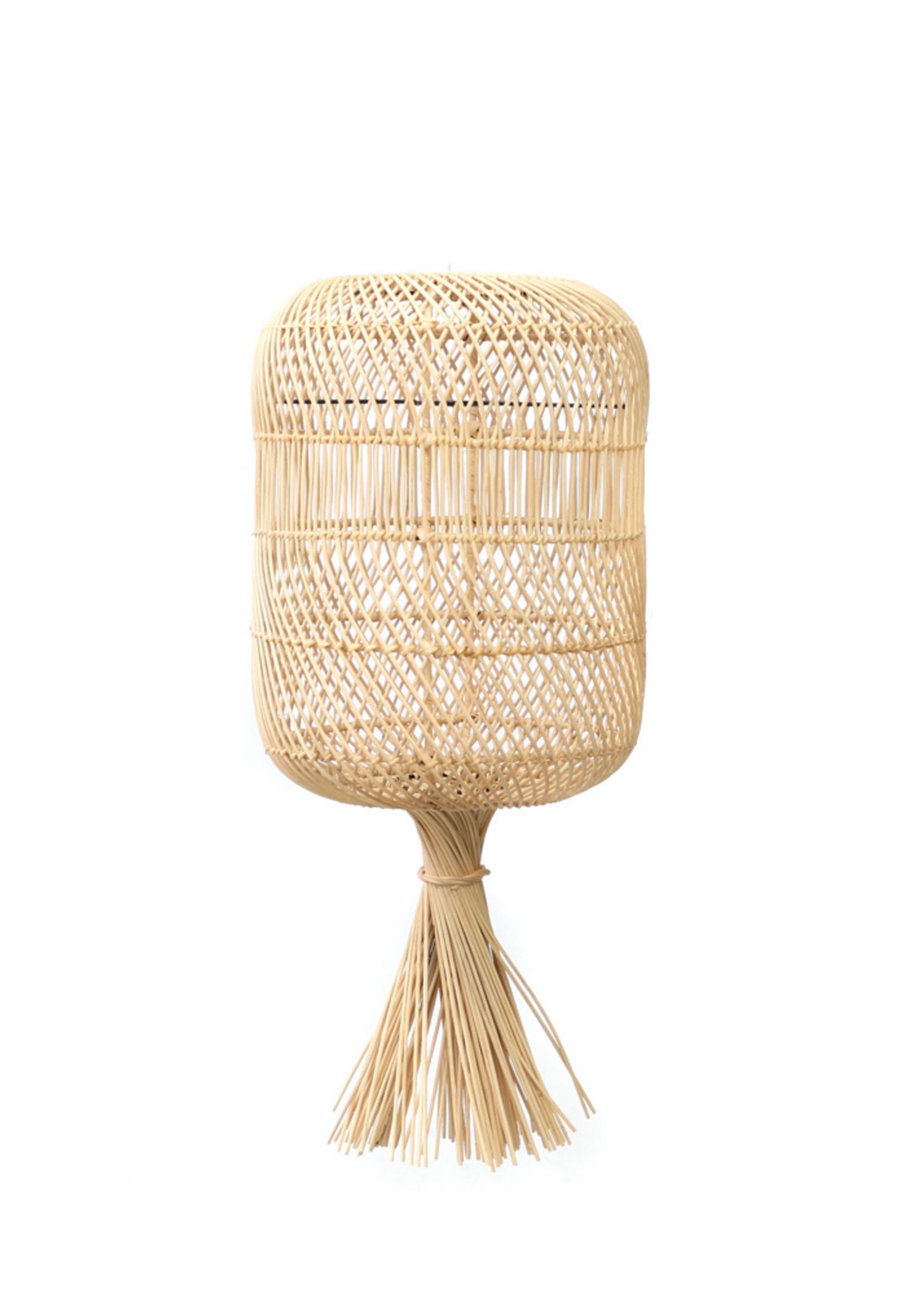 The Rattan Dumpling Floor Lamp - Pendant - Natural