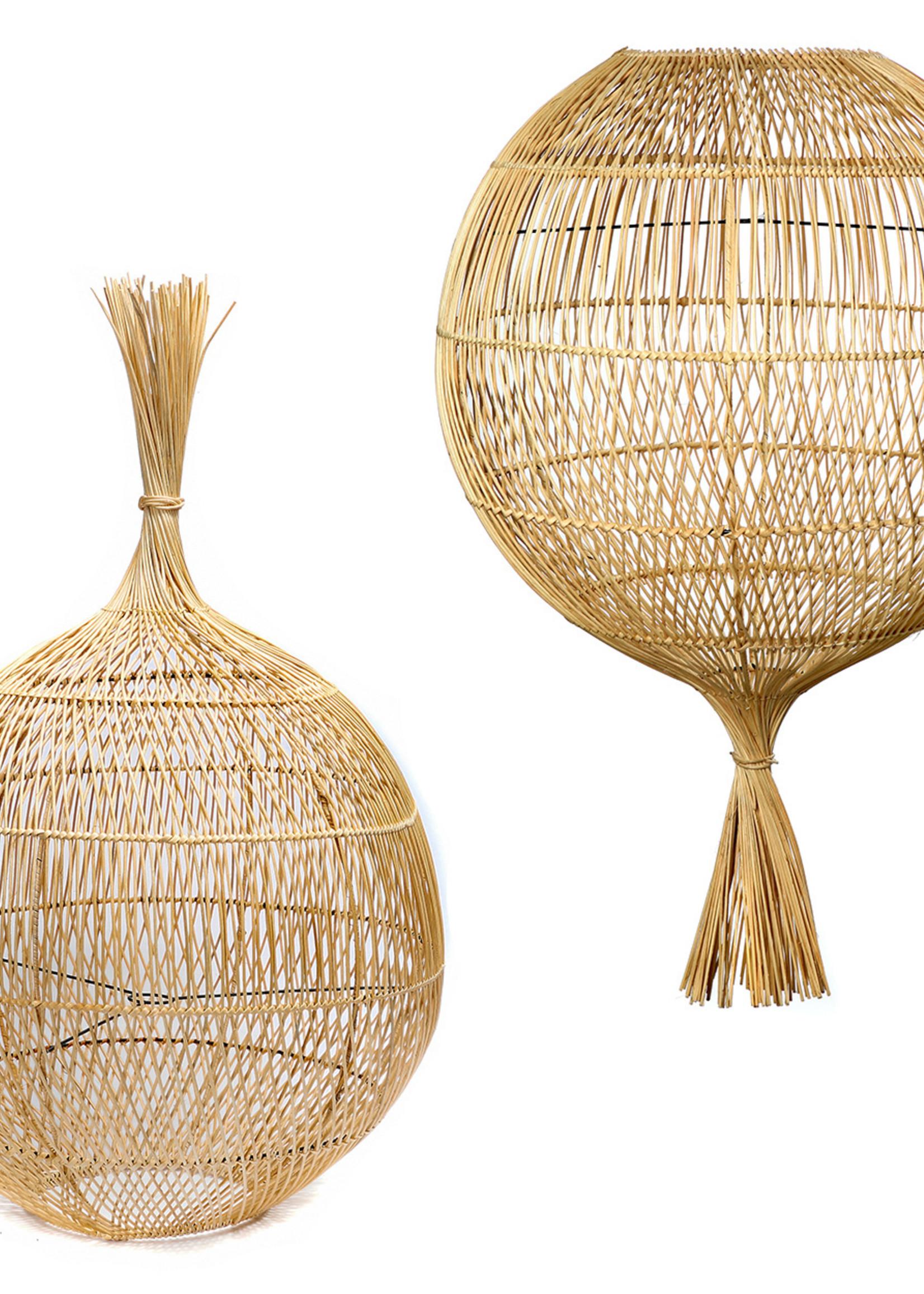 The Rattan Wonton Floor Lamp - Pendant - Natural