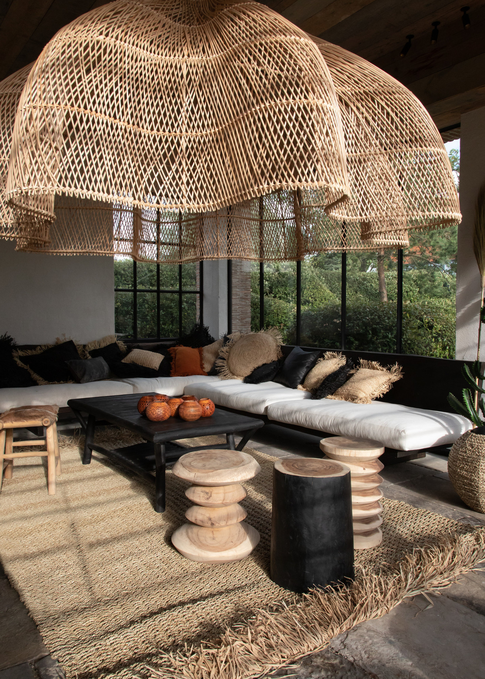 The Rattan Whipped Pendant - Natural - XXL