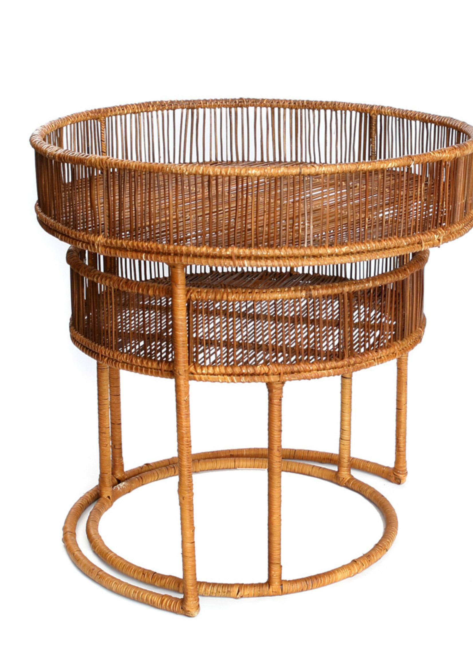 The Lombok Lodge Side Tables - Round - Natural - SET2