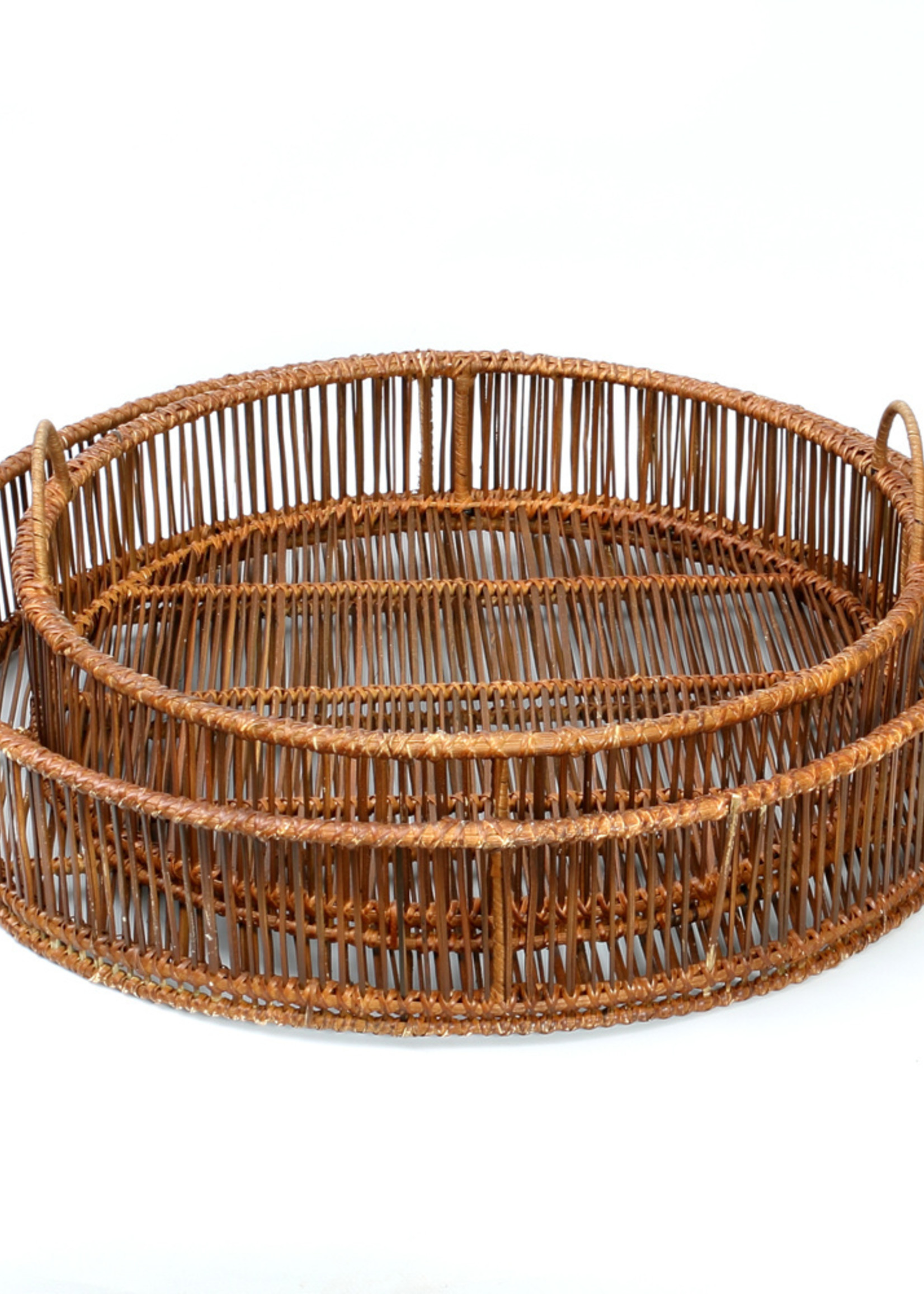 The Rattan Trays - Round - Natural - SET2