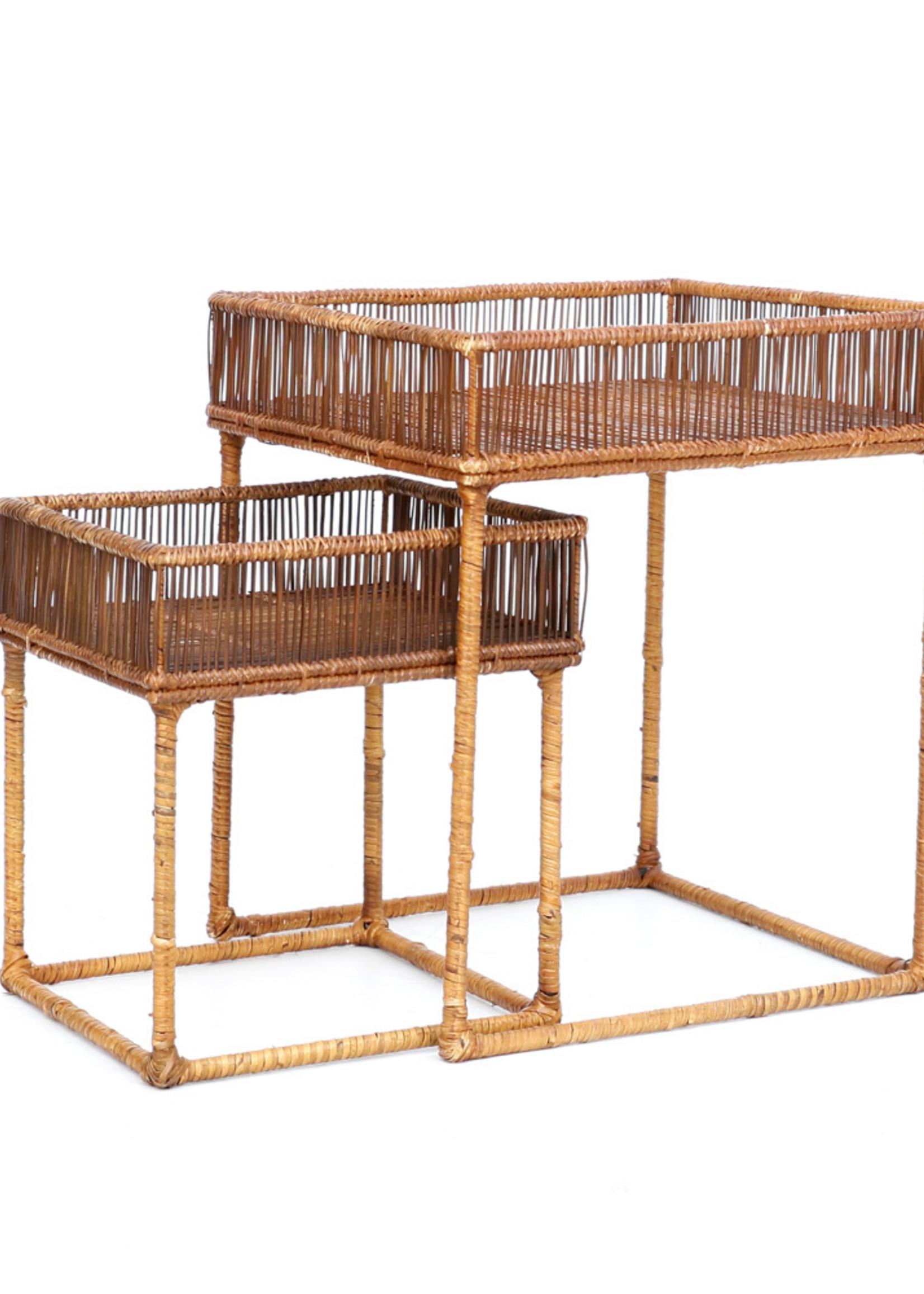 The Lombok Lodge Side Tables - Square - Natural - SET2