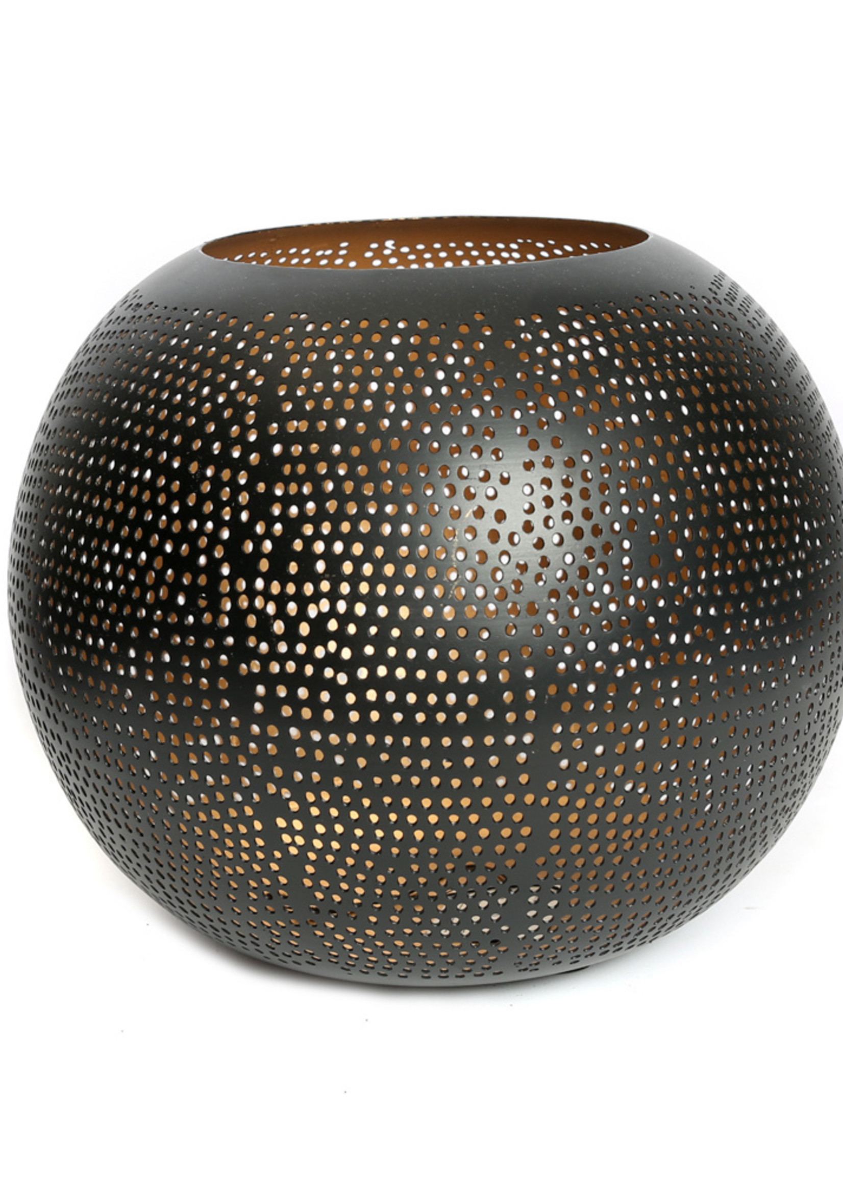 The Pierced Ball - Black Gold - L