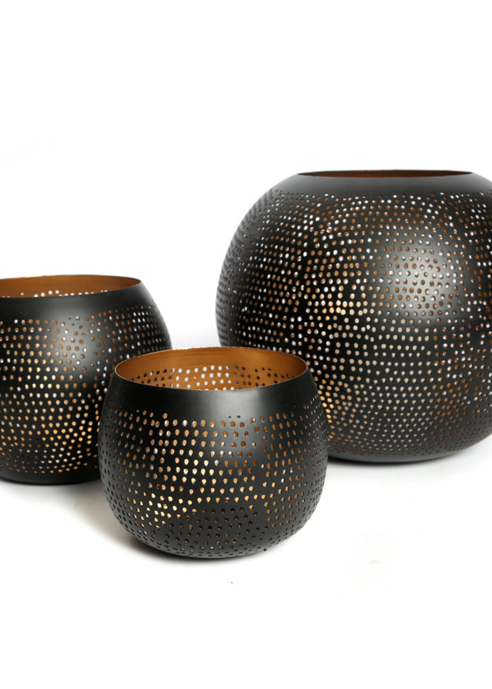 The Pierced Ball - Black Gold - S