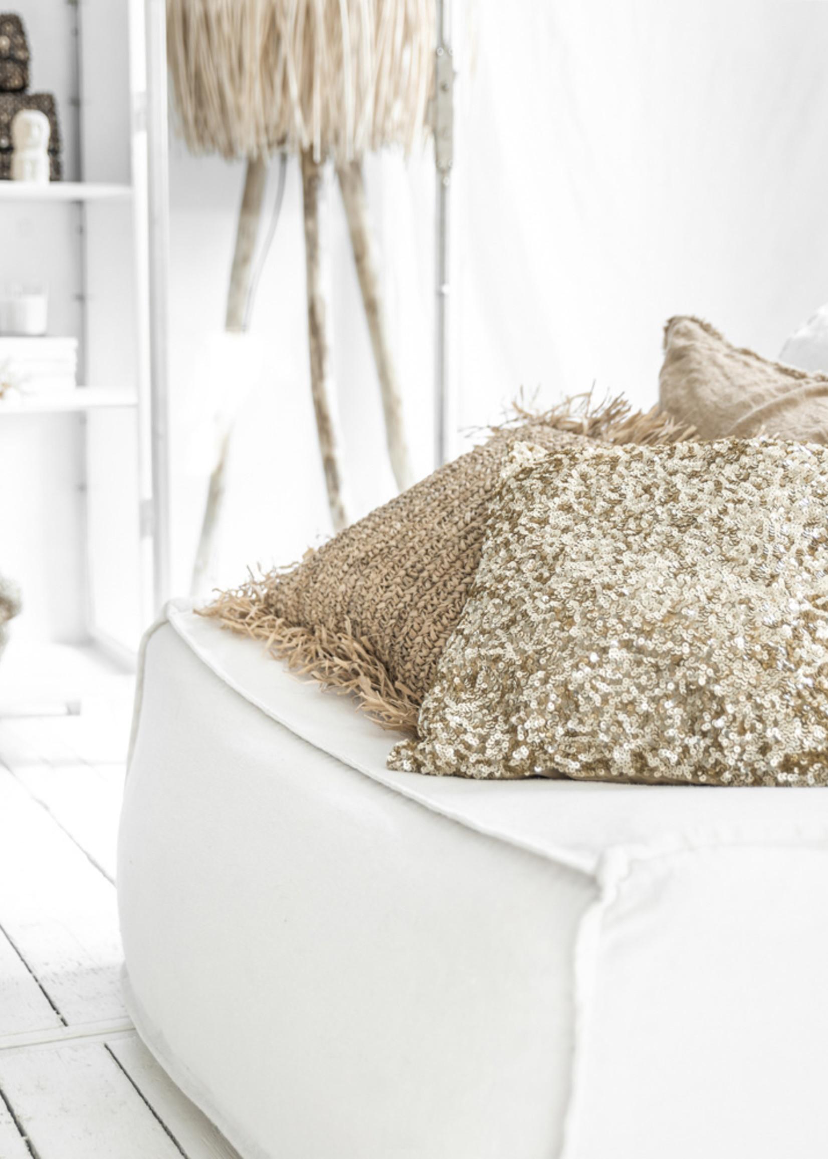 The Glitter Cushion - Gold
