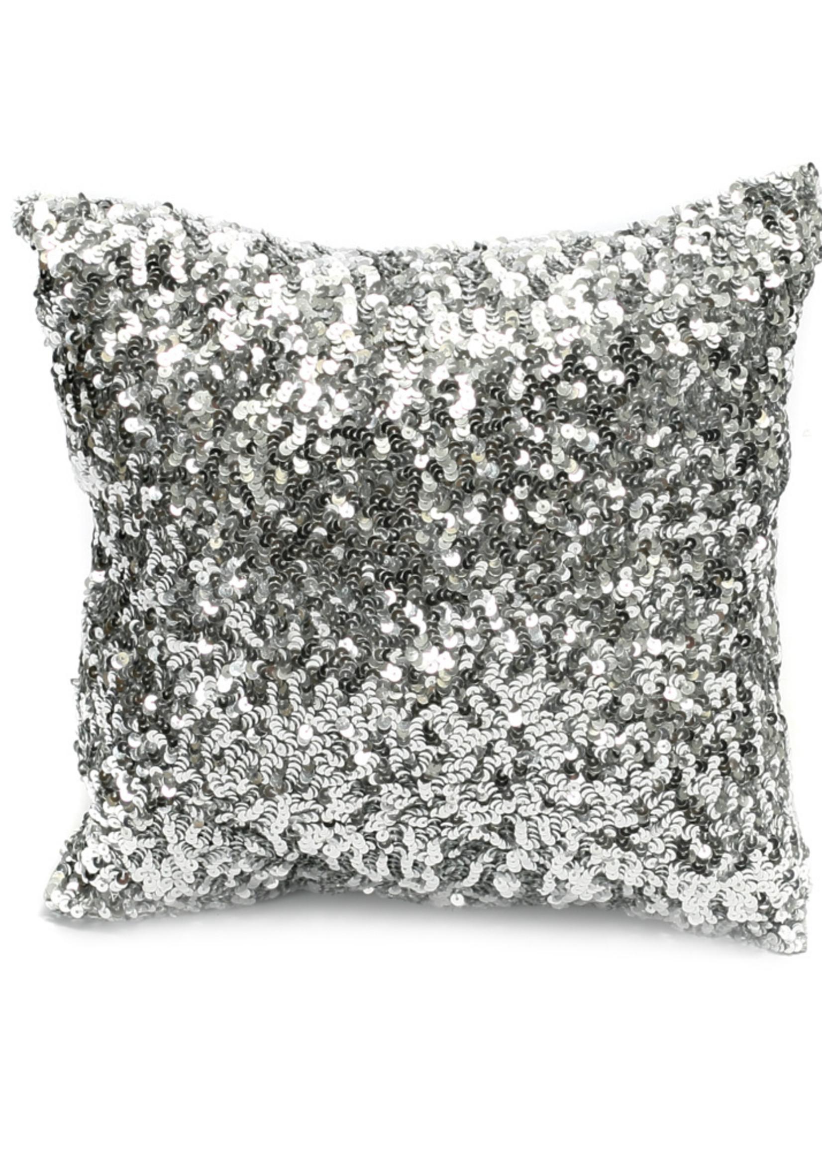 The Glitter Cushion - Silver