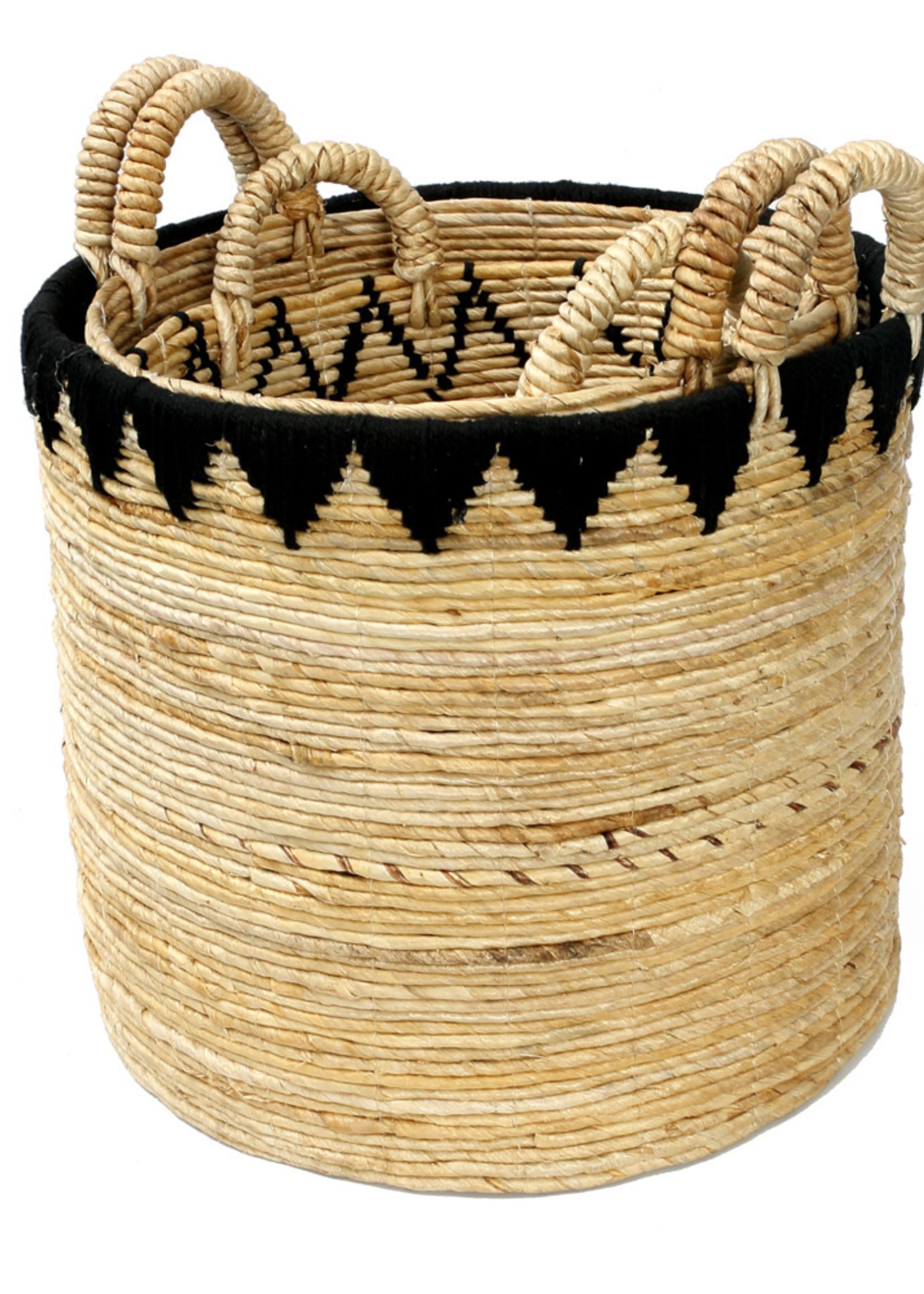 The Banana Stitched Baskets - Natural Black - SET3