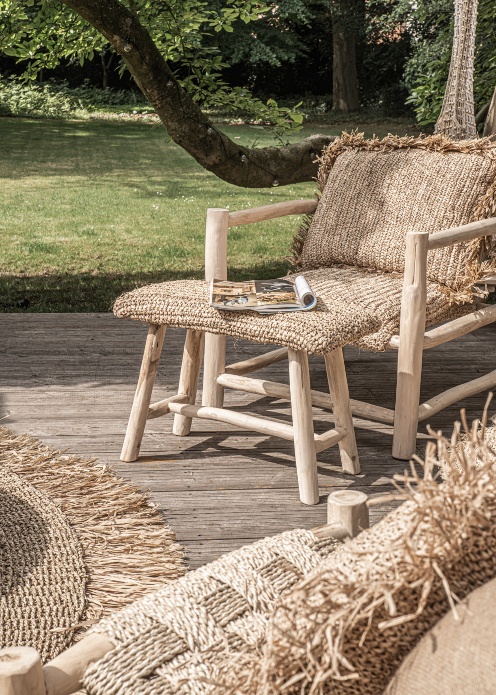 The Raffia One Seater - Natural