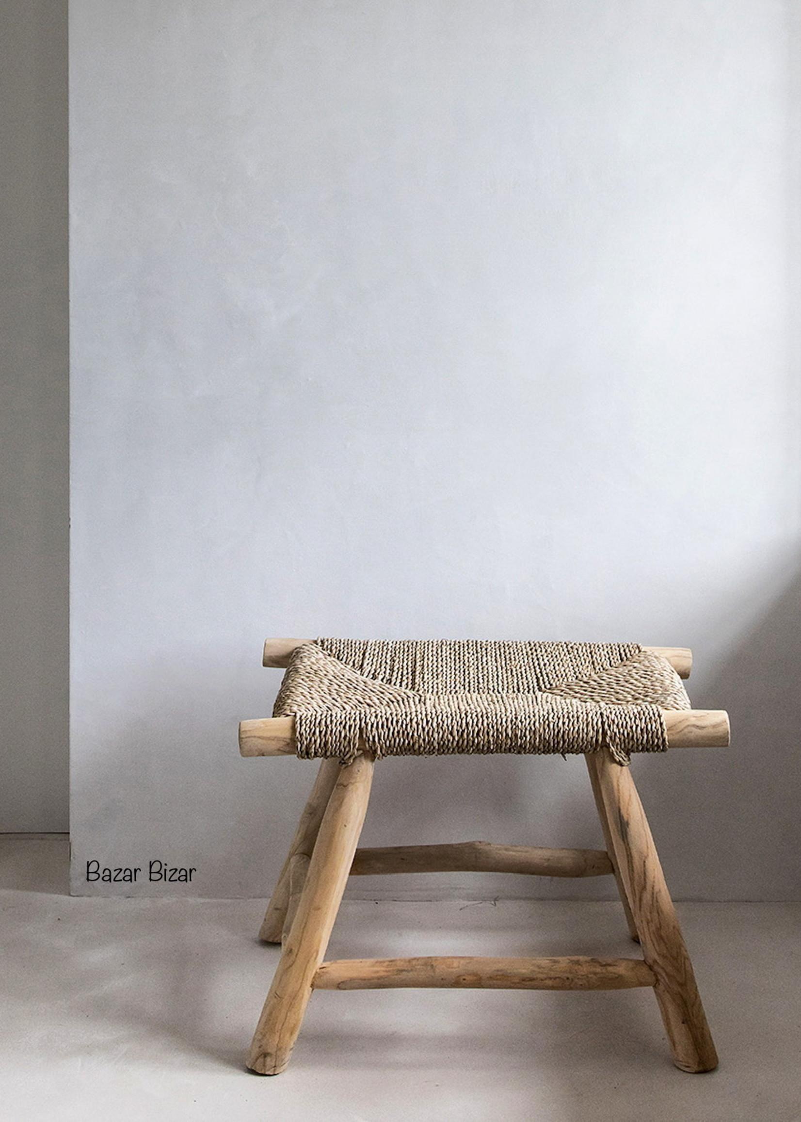 The Porto Seagrass Stool - Natural - M