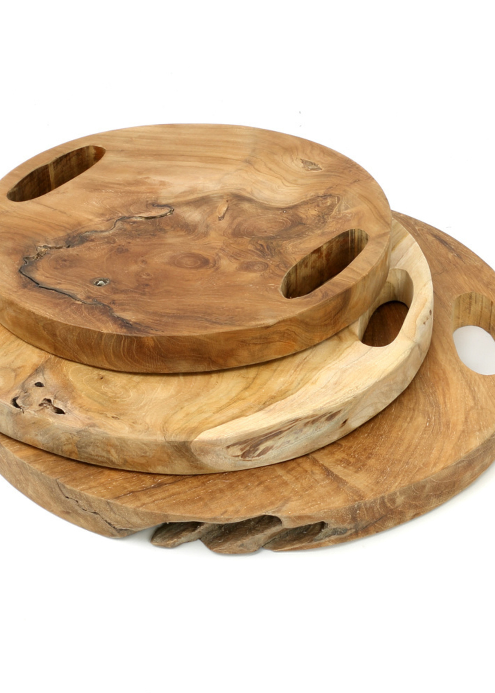 The Teak Root Tray - Natural - L