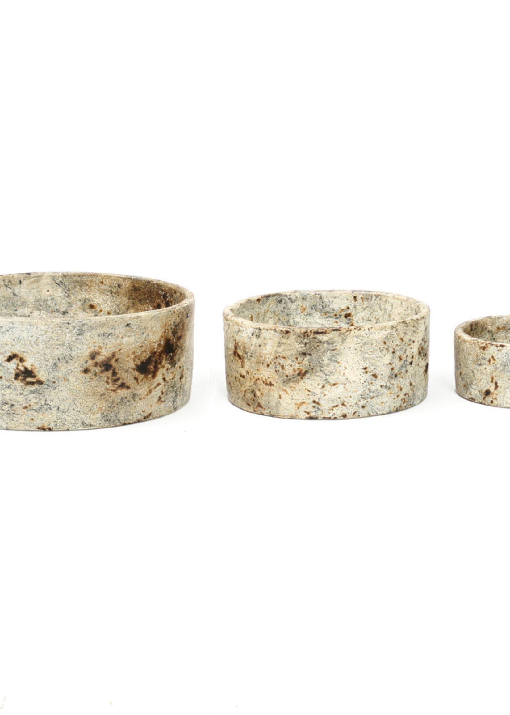 The Burned Cylinder Dish - Antique - SET3