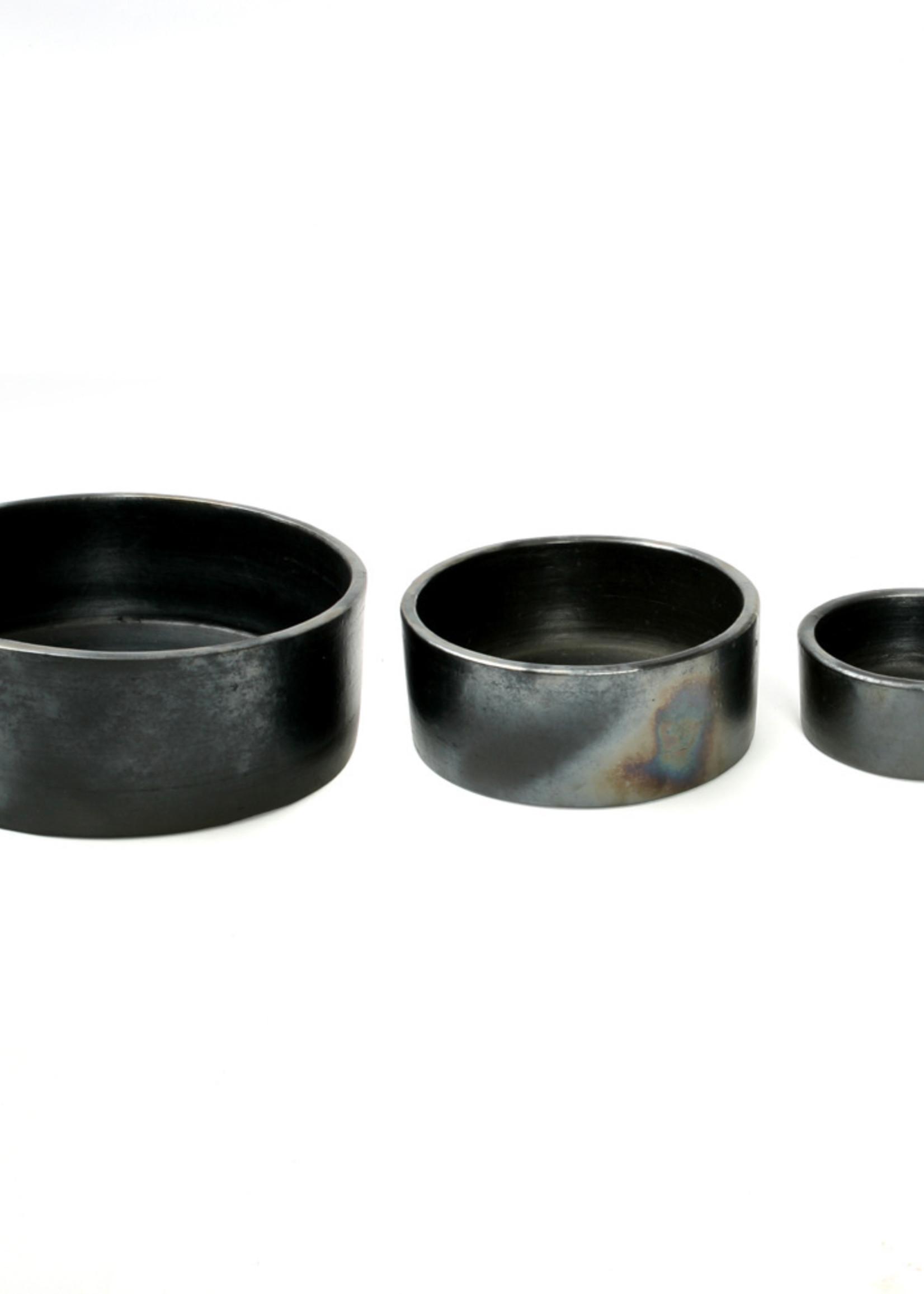 The Burned Cylinder Dish - Black - SET3