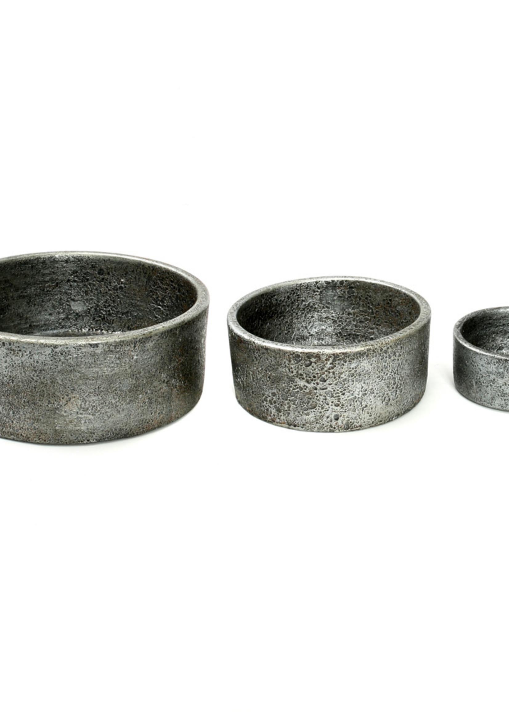 The Burned Cylinder Dish - Grey - SET3