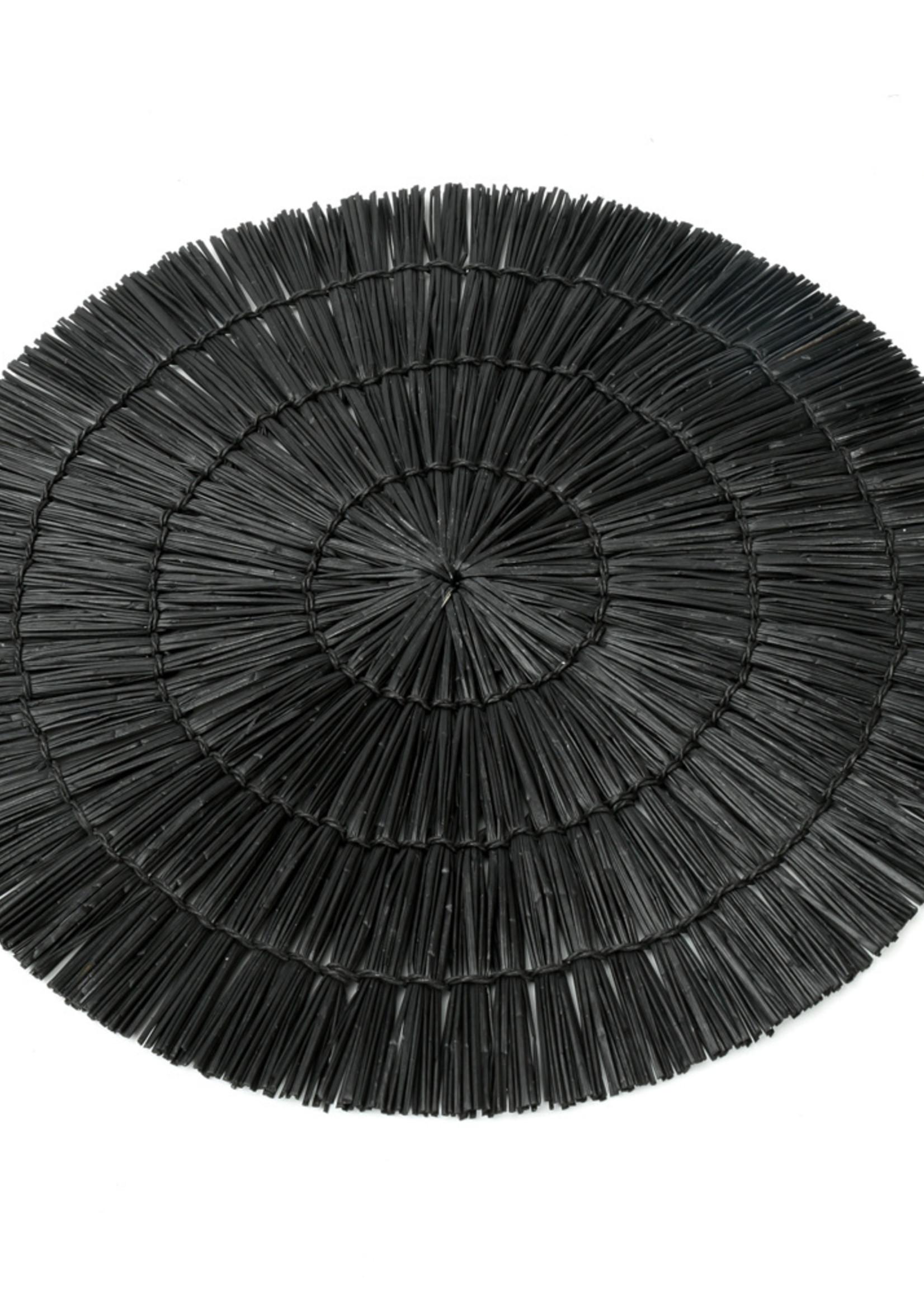 The Alang Alang Placemat - Round - Black