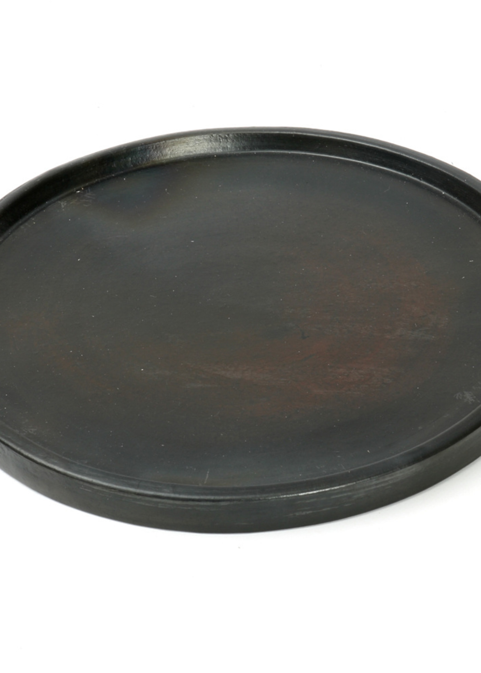 The Terracotta Burned Plate - Black - L
