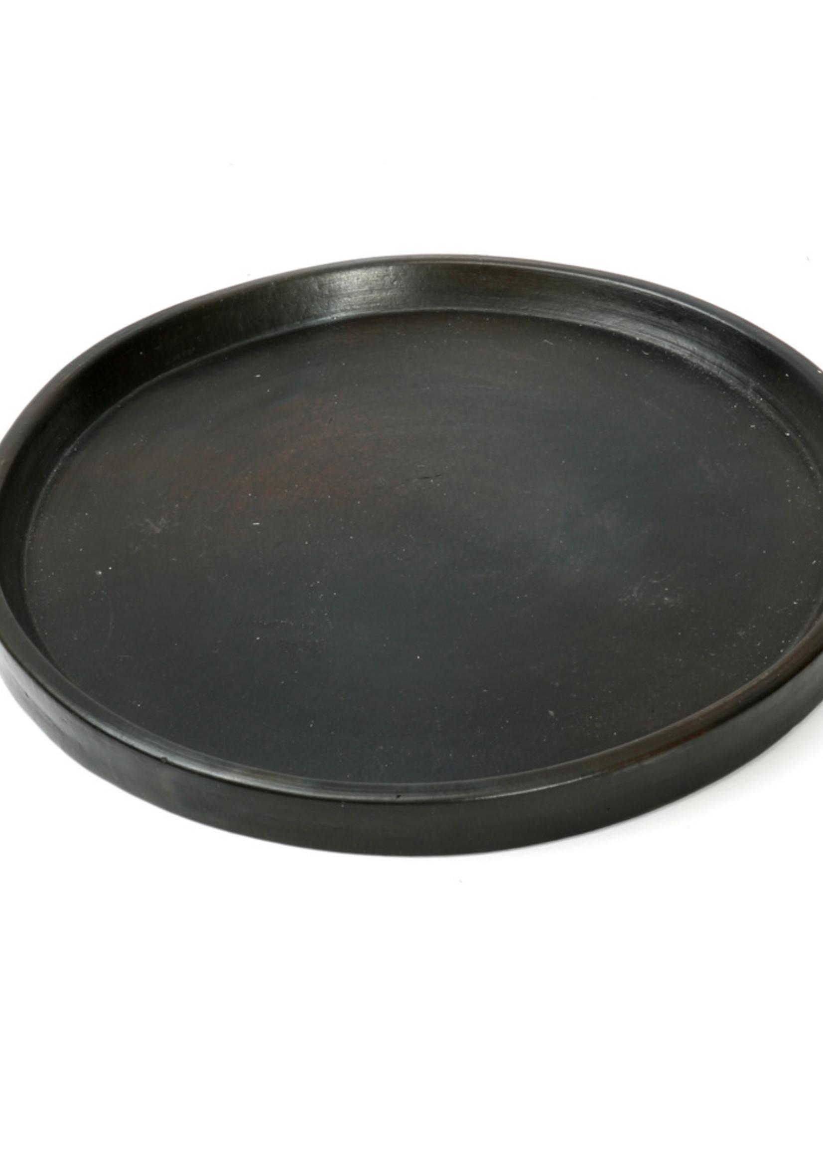 The Terracotta Burned Plate - Black - M