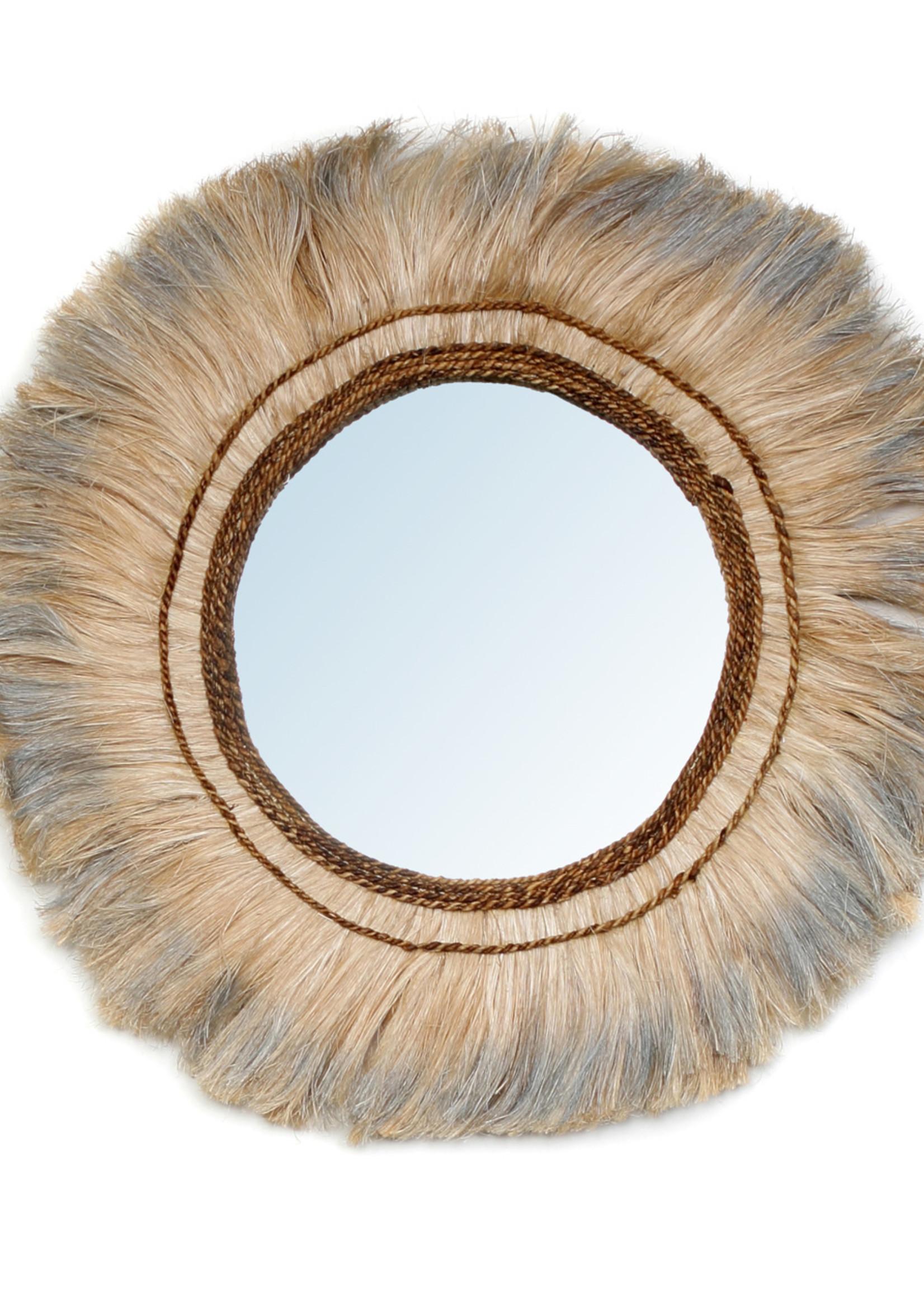 The Baloo Mirror - Natural Silver - L