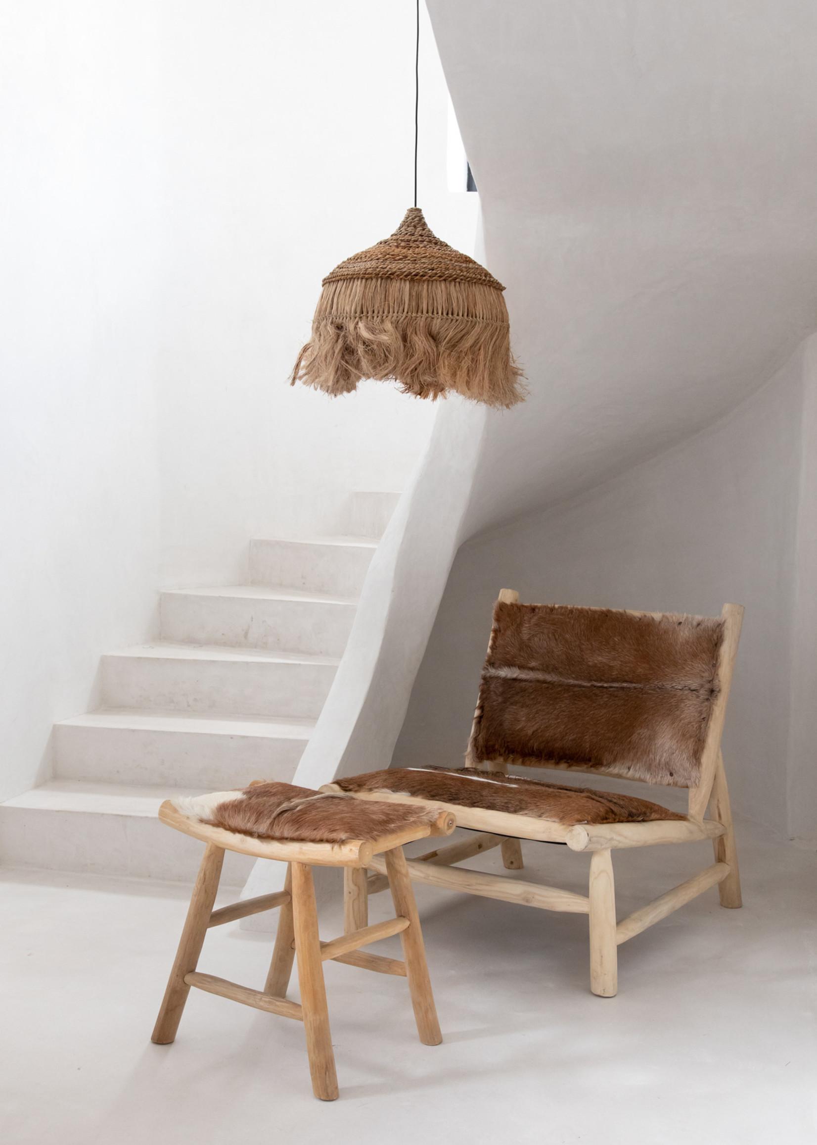 The Abaca Hoola Pendant Lamp - Natural - L