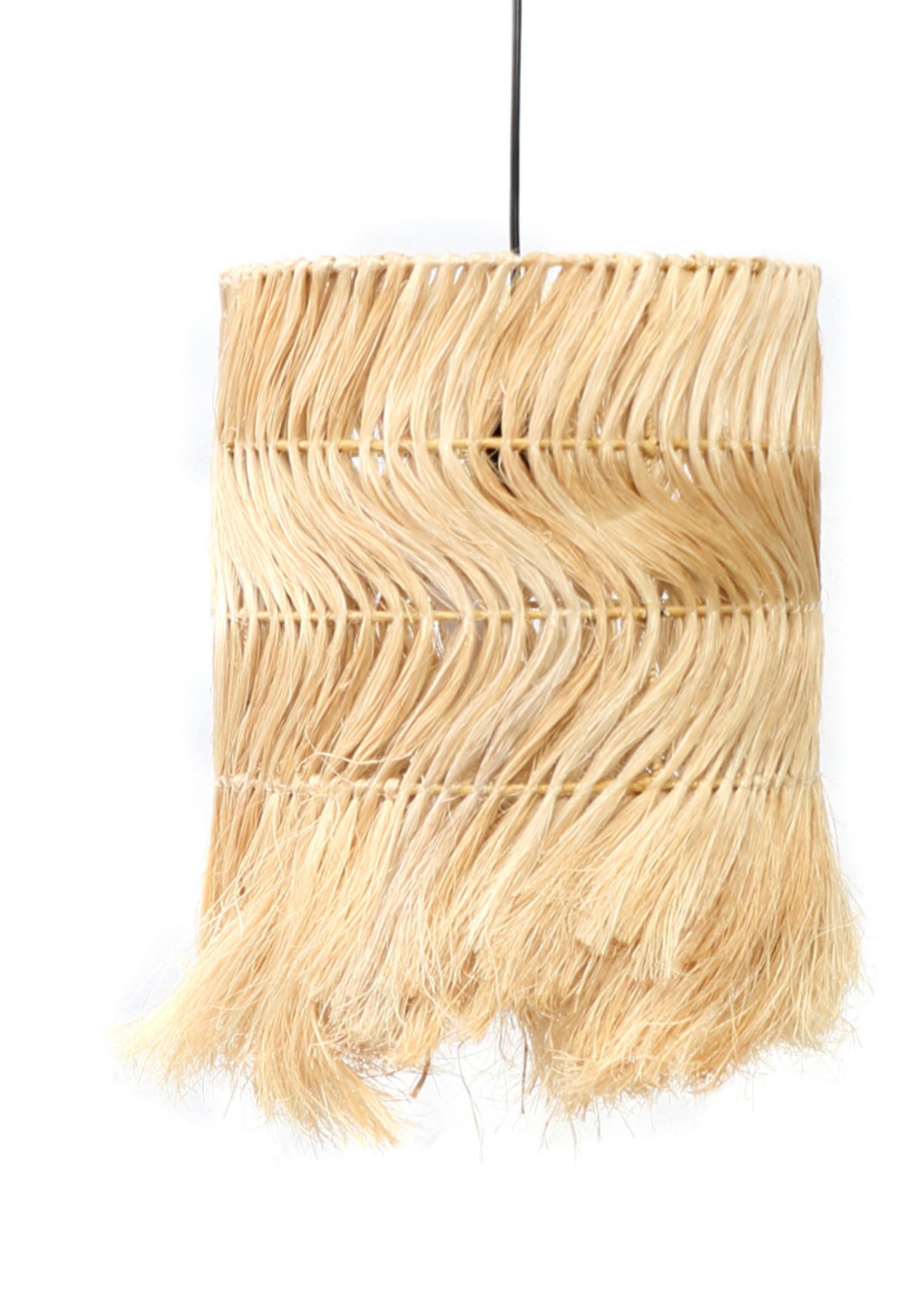 The Abaca Kinky Pendant Lamp - Natural - M