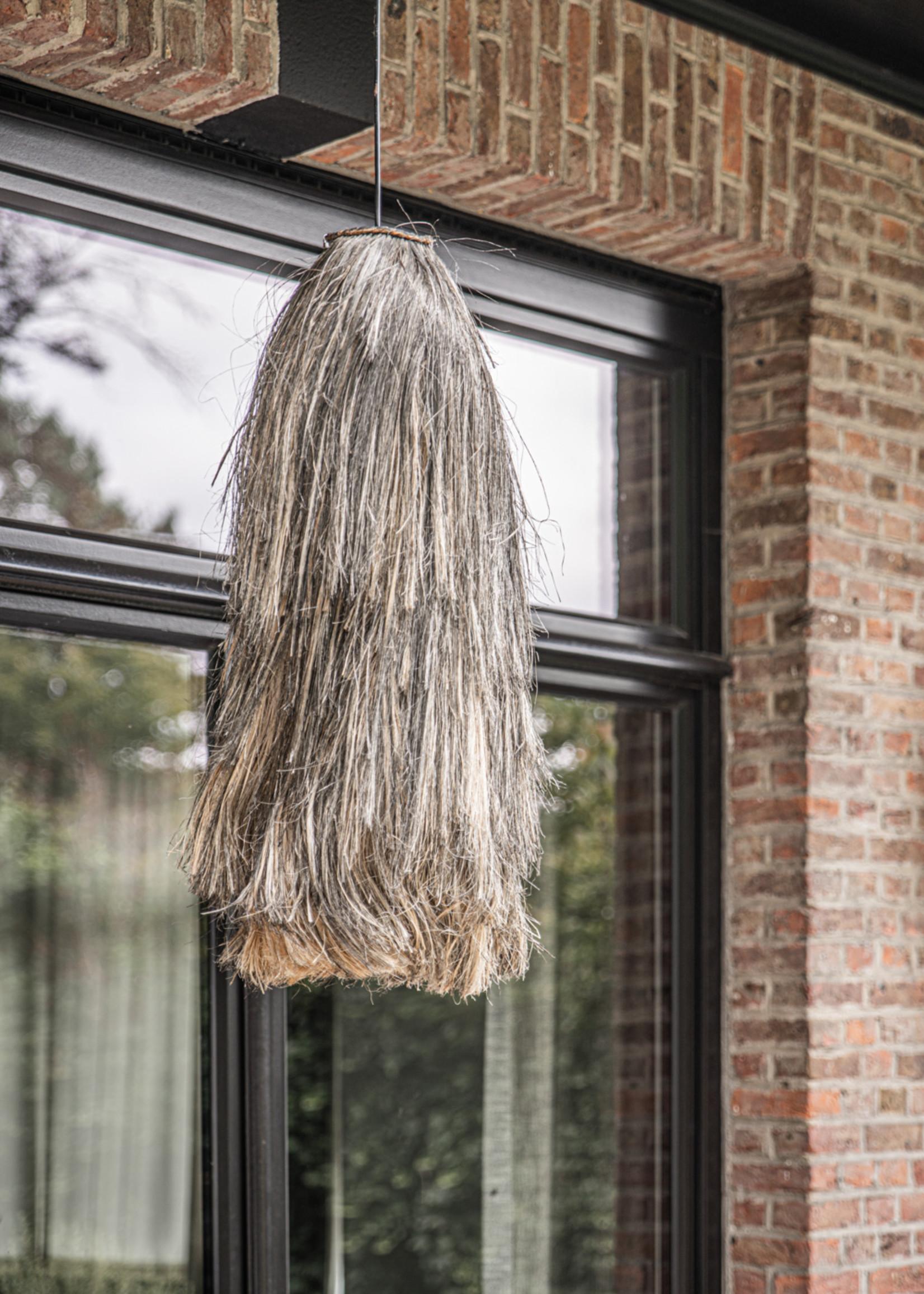 The Abaca Cuci Pendant Lamp - Natural Black- L