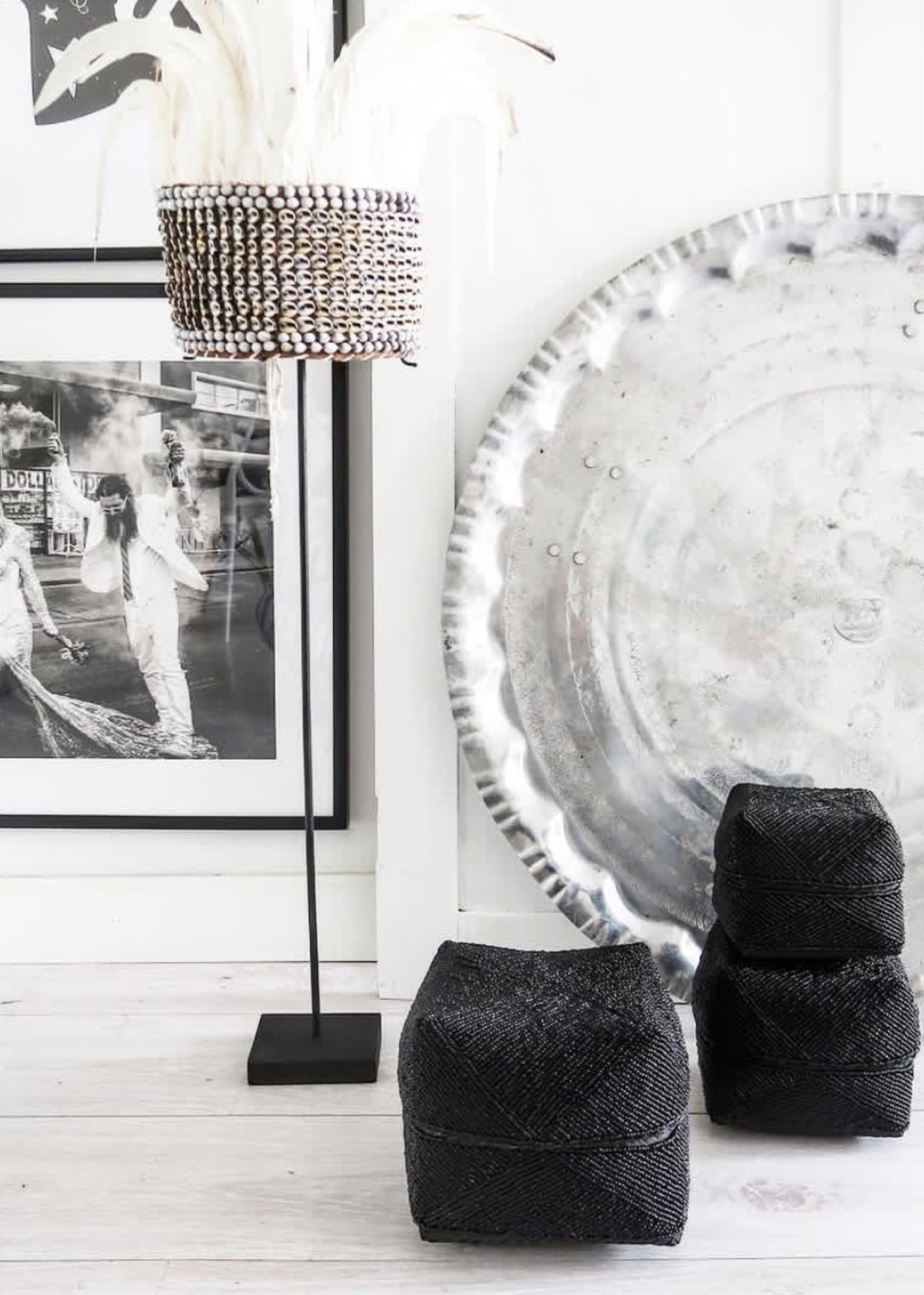 The Beaded Basket - Black - SET3