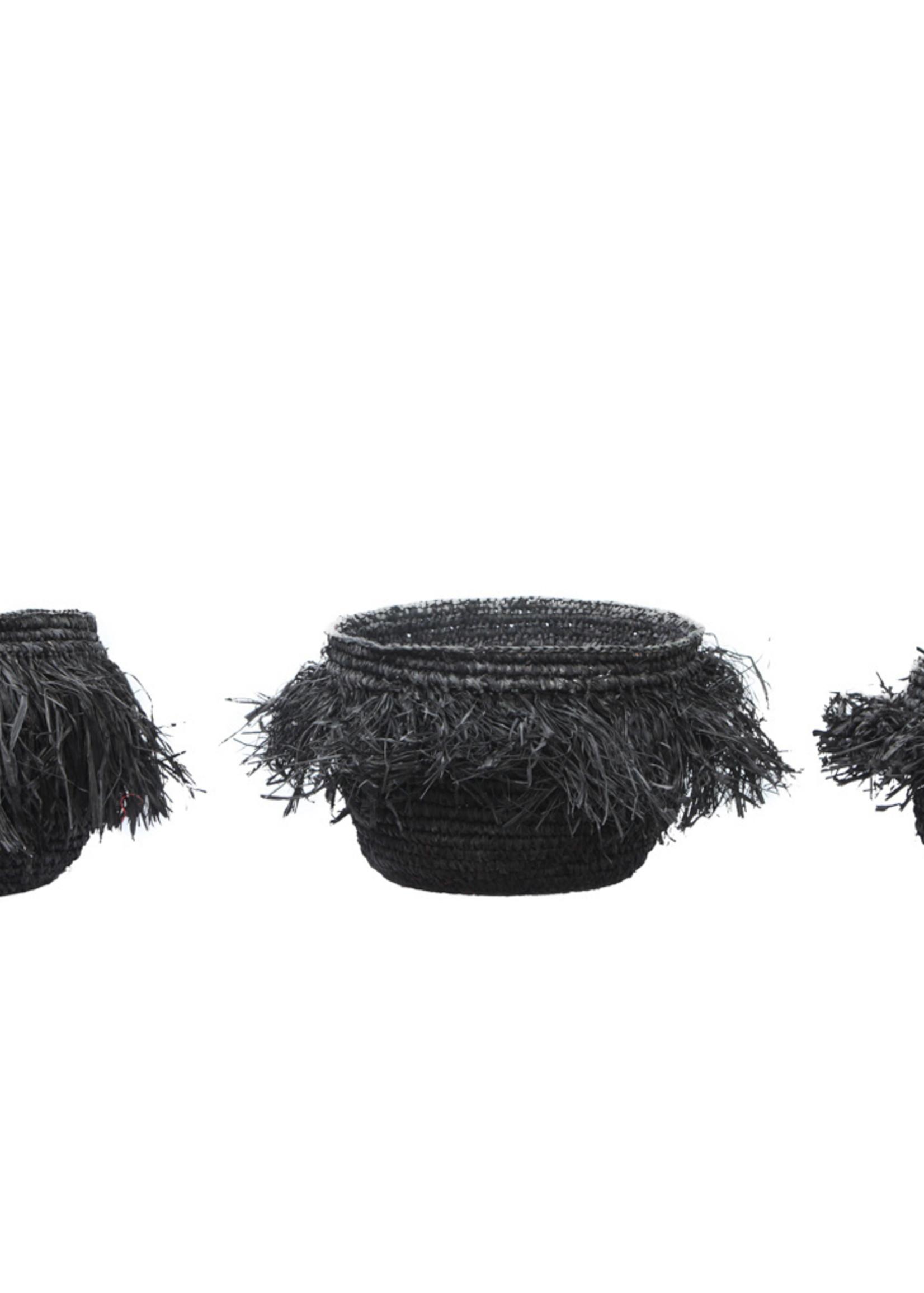 The Raffia Bowls - Black - SET3