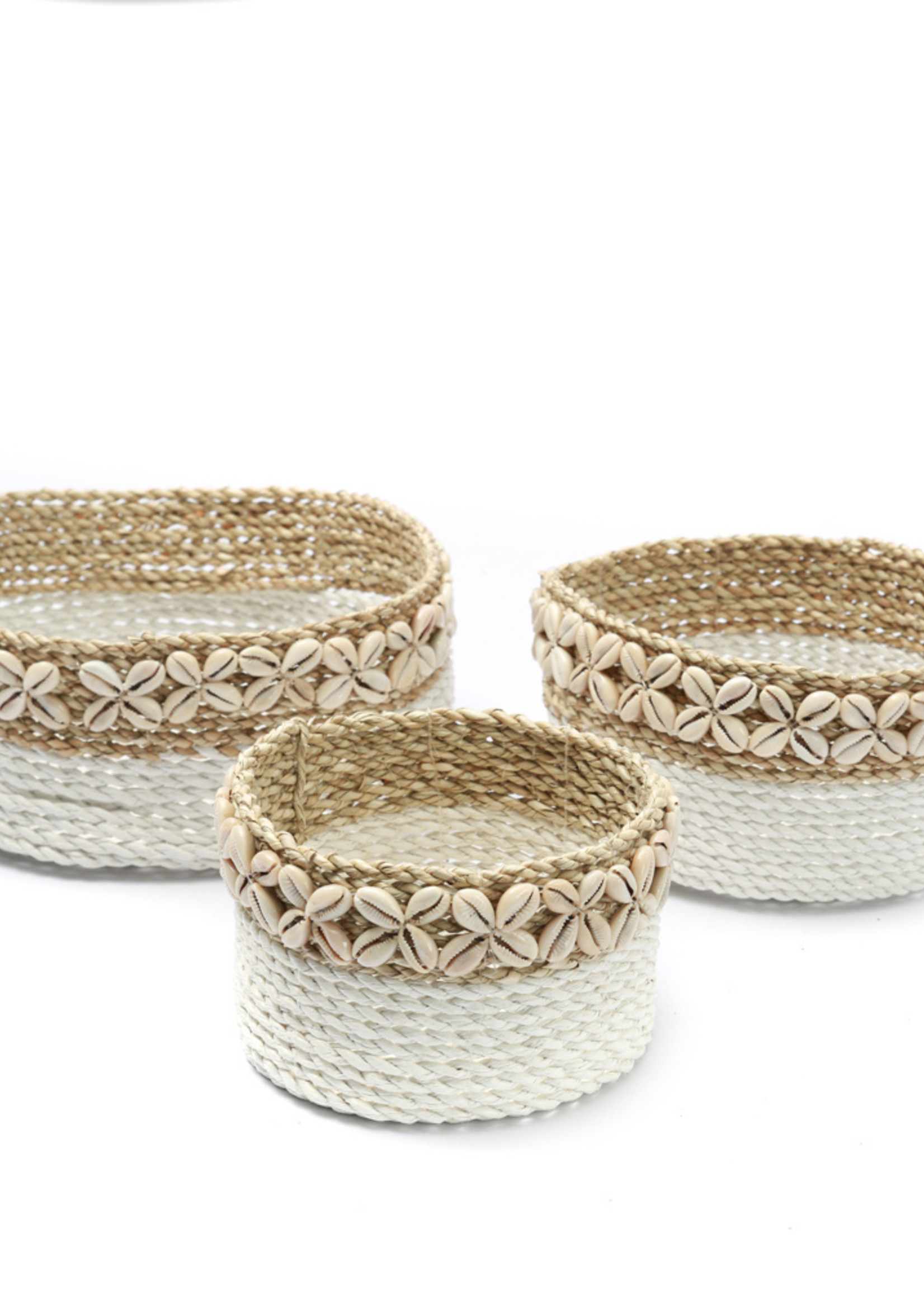 The White Sunday Baskets - White Natural - SET3