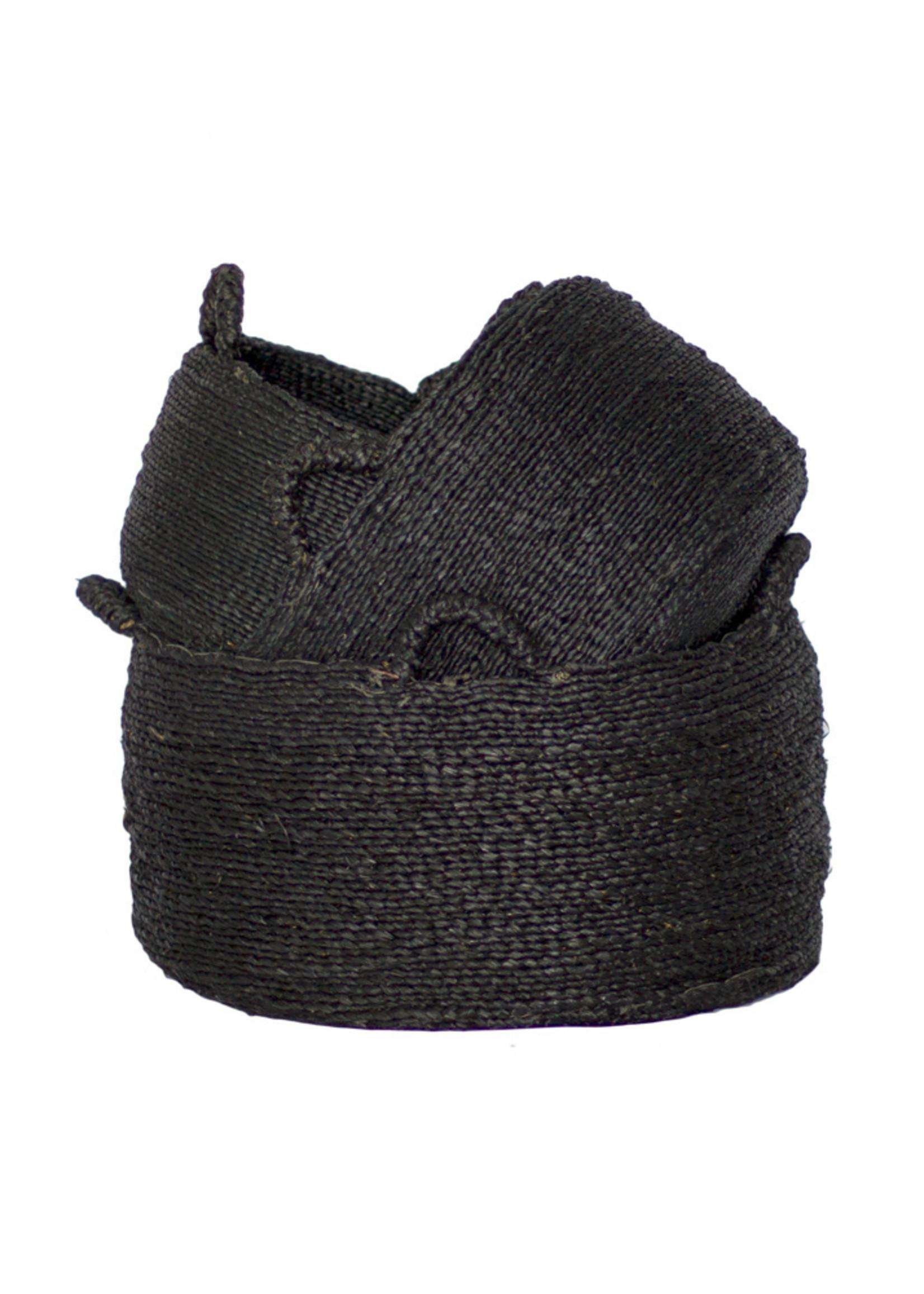 Les Quatre Mains Baskets - Black - SET3