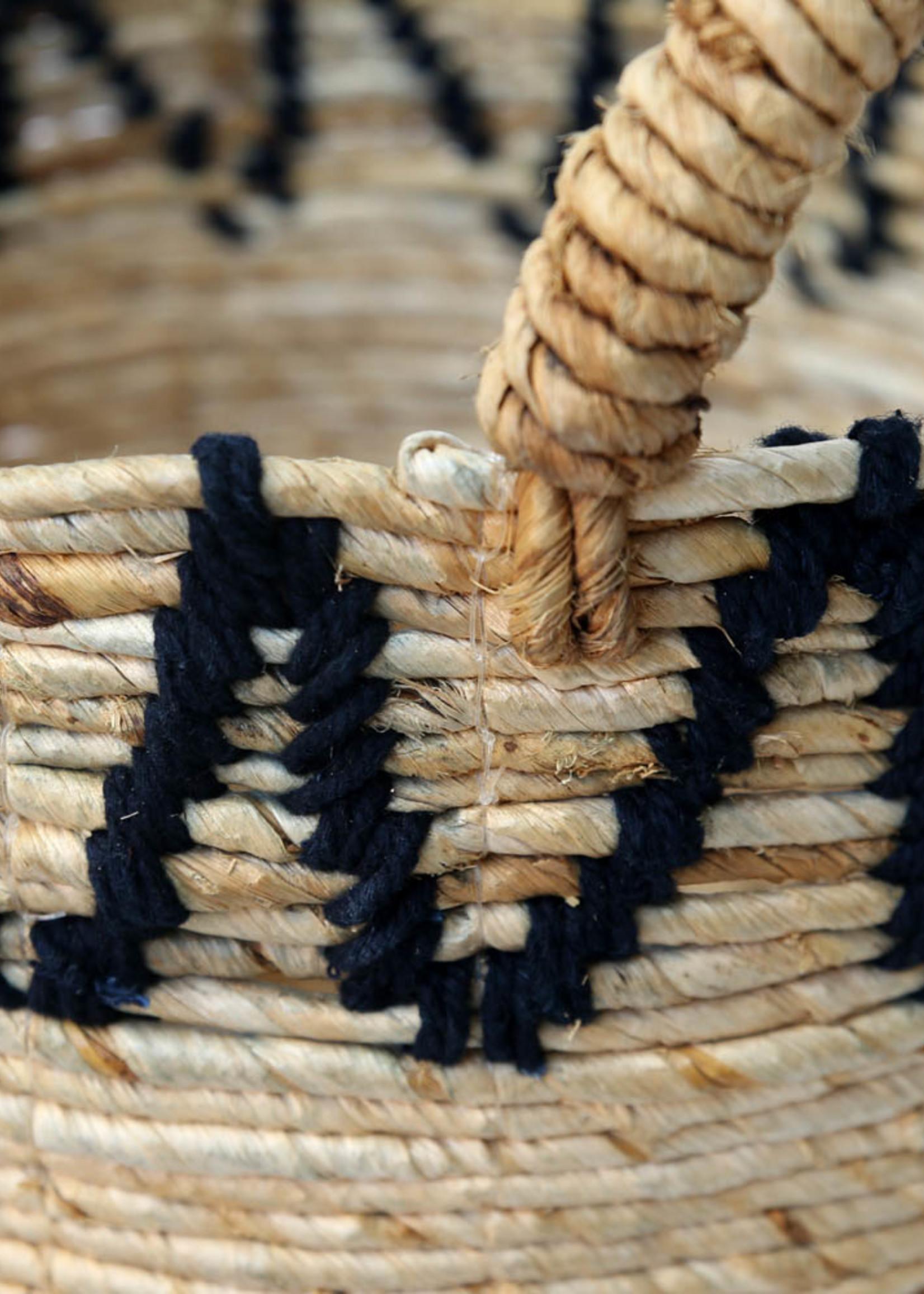 The Banana Stitched Baskets - Natural Black - Small