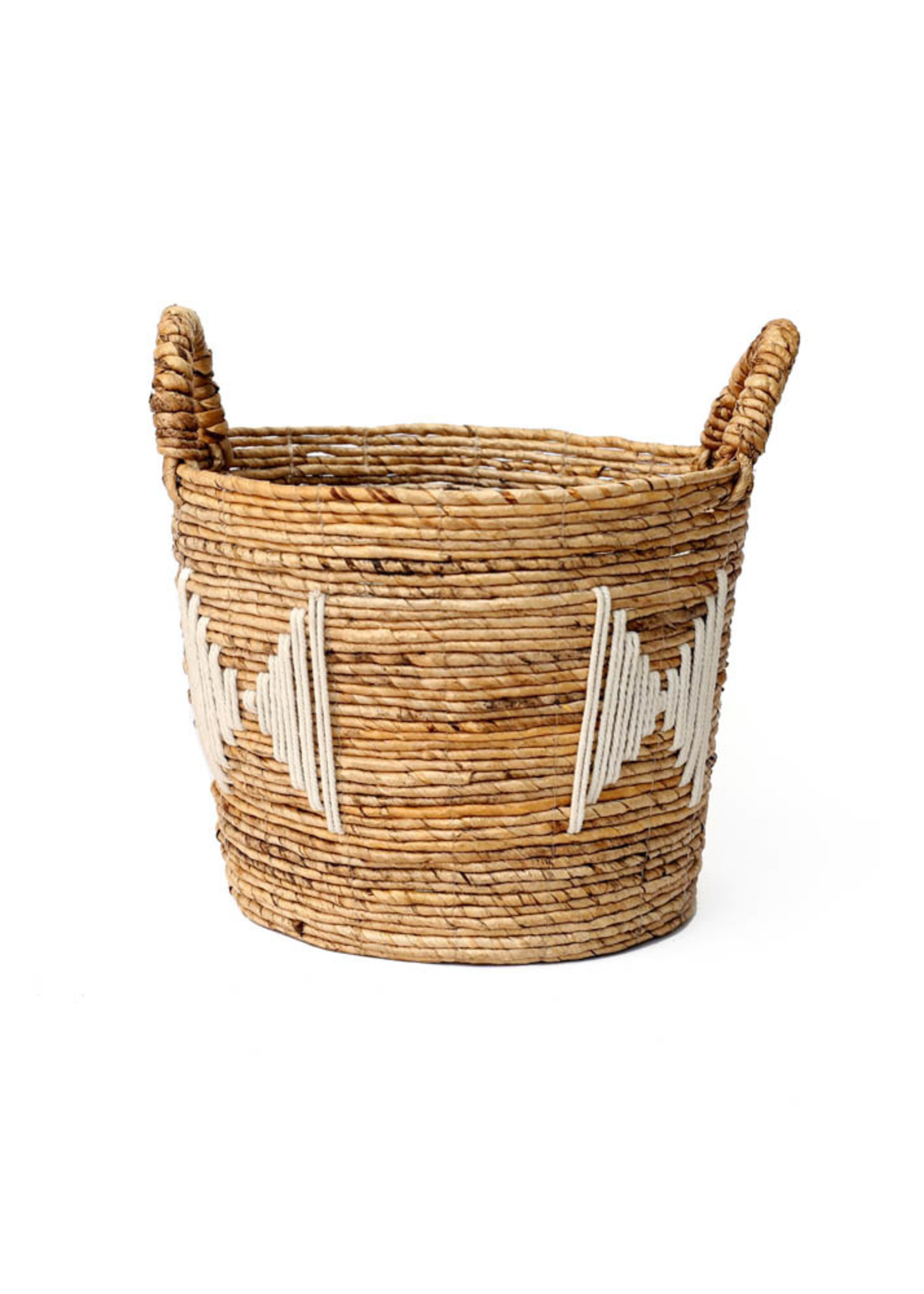 The Banana Stitched Baskets - Natural White - Small