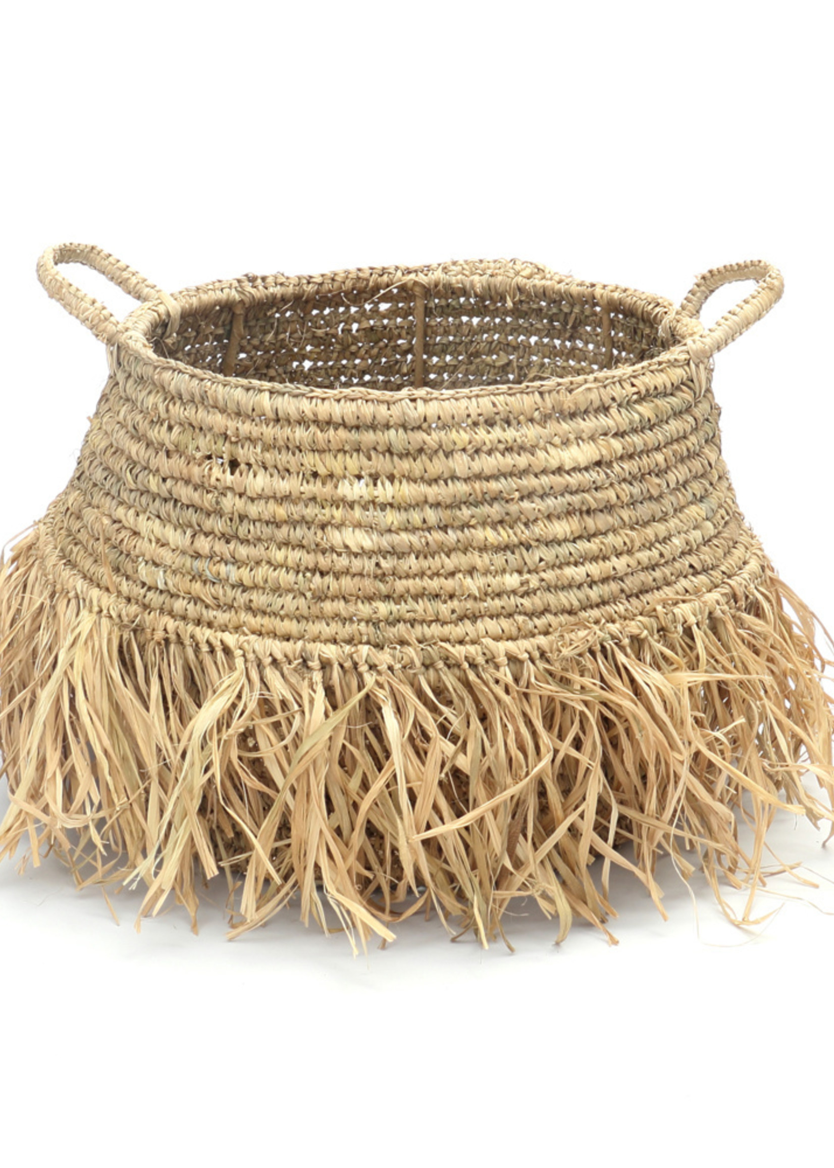 The Raffia Deluxe Baskets - Natural - SET2