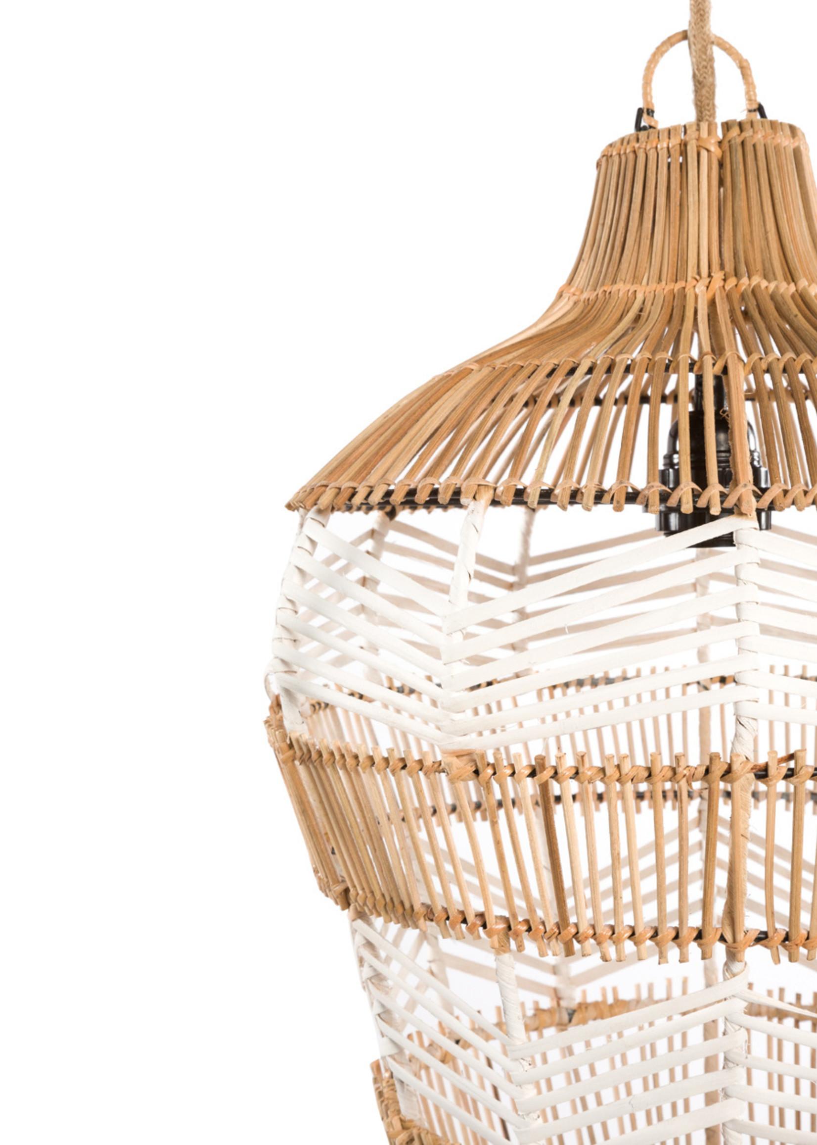 The Vase Pendant - Natural White - M