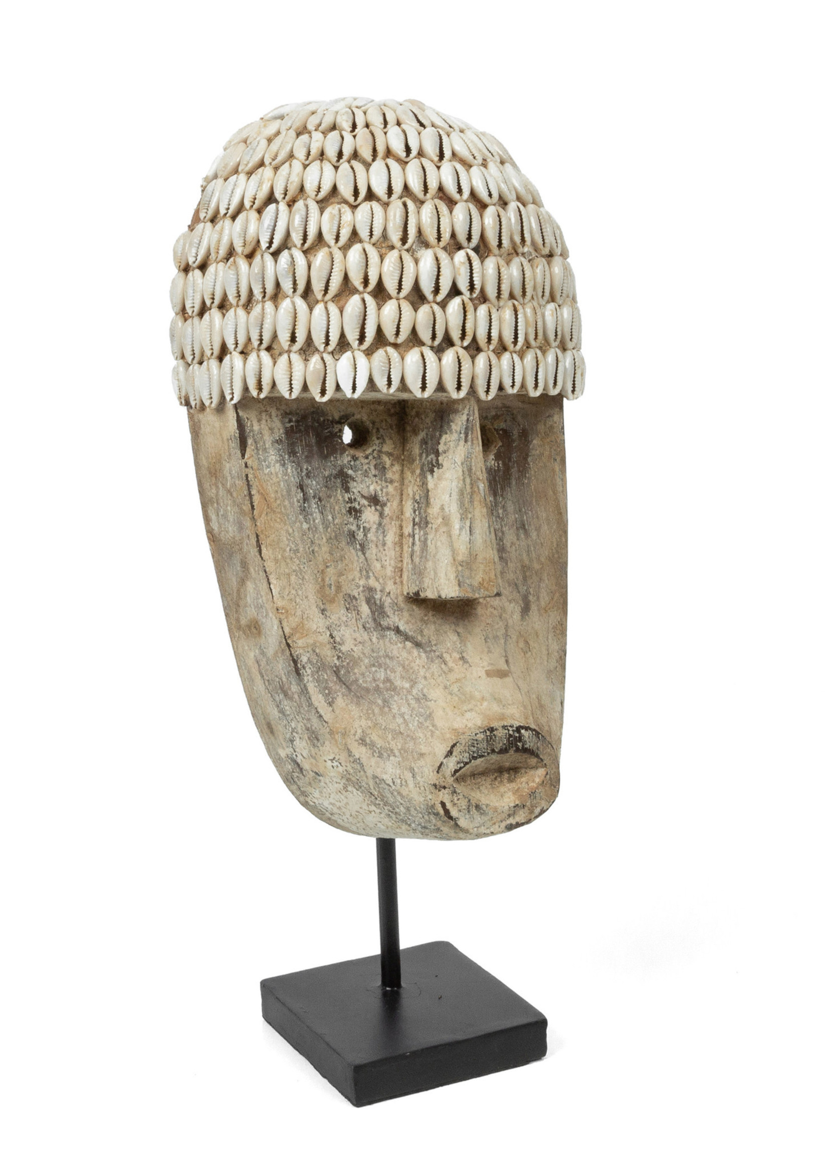 The Cowrie Mask on Stand - Medium