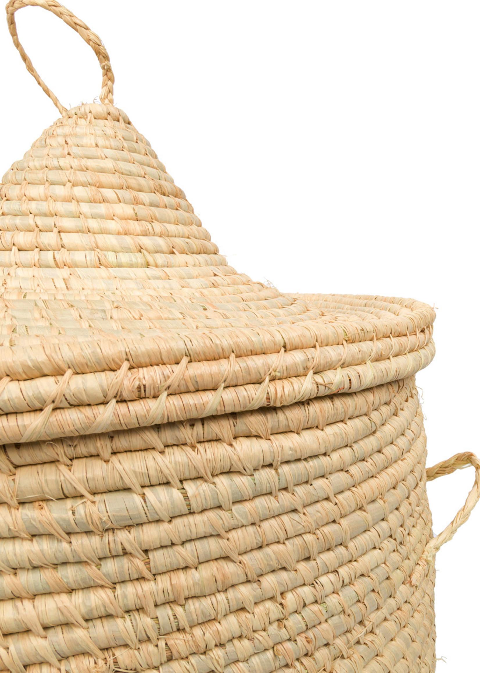 The Bozaka Laundry Basket  - Natural - M