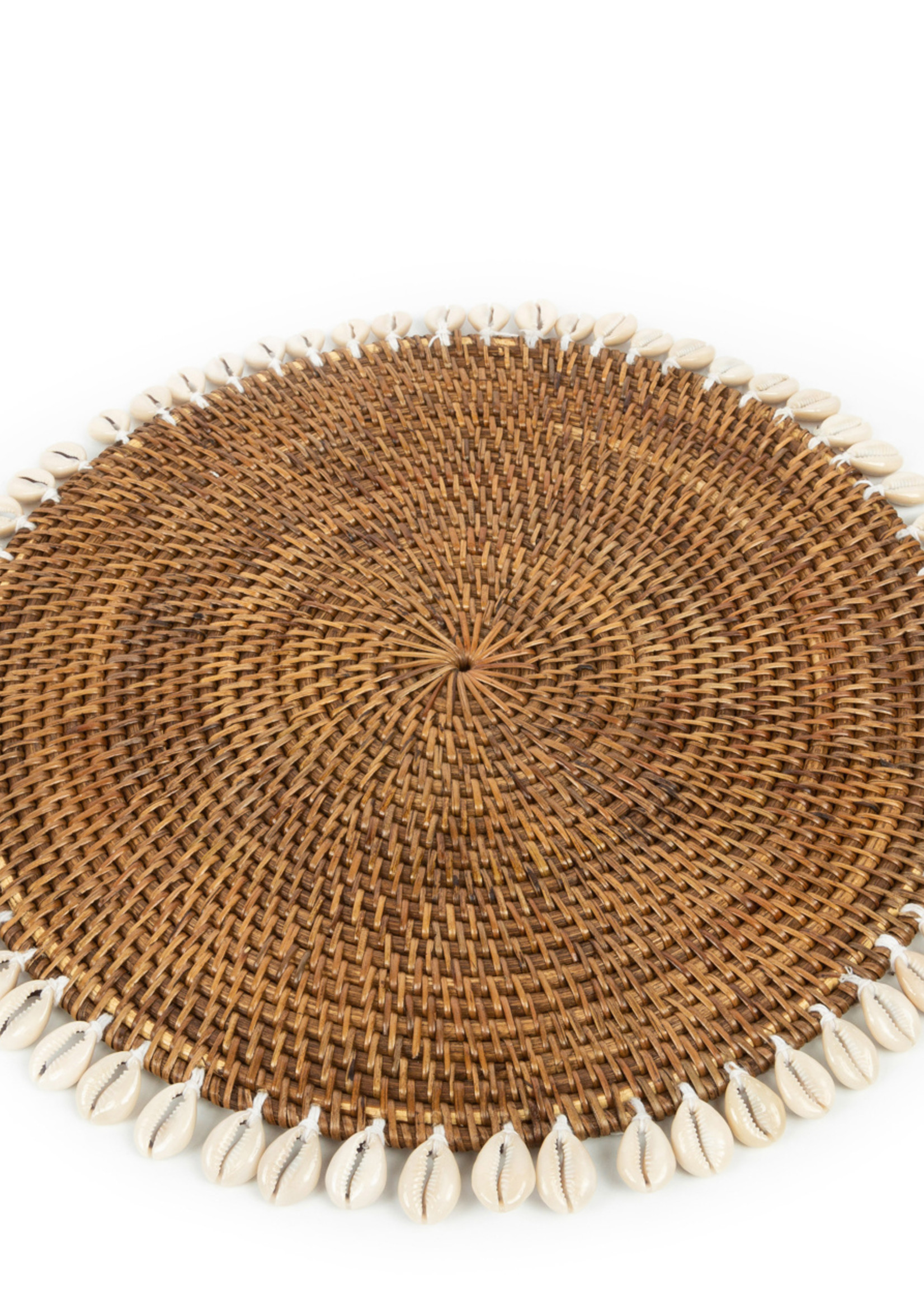 The Colonial Shell Placemat - Natural Brown