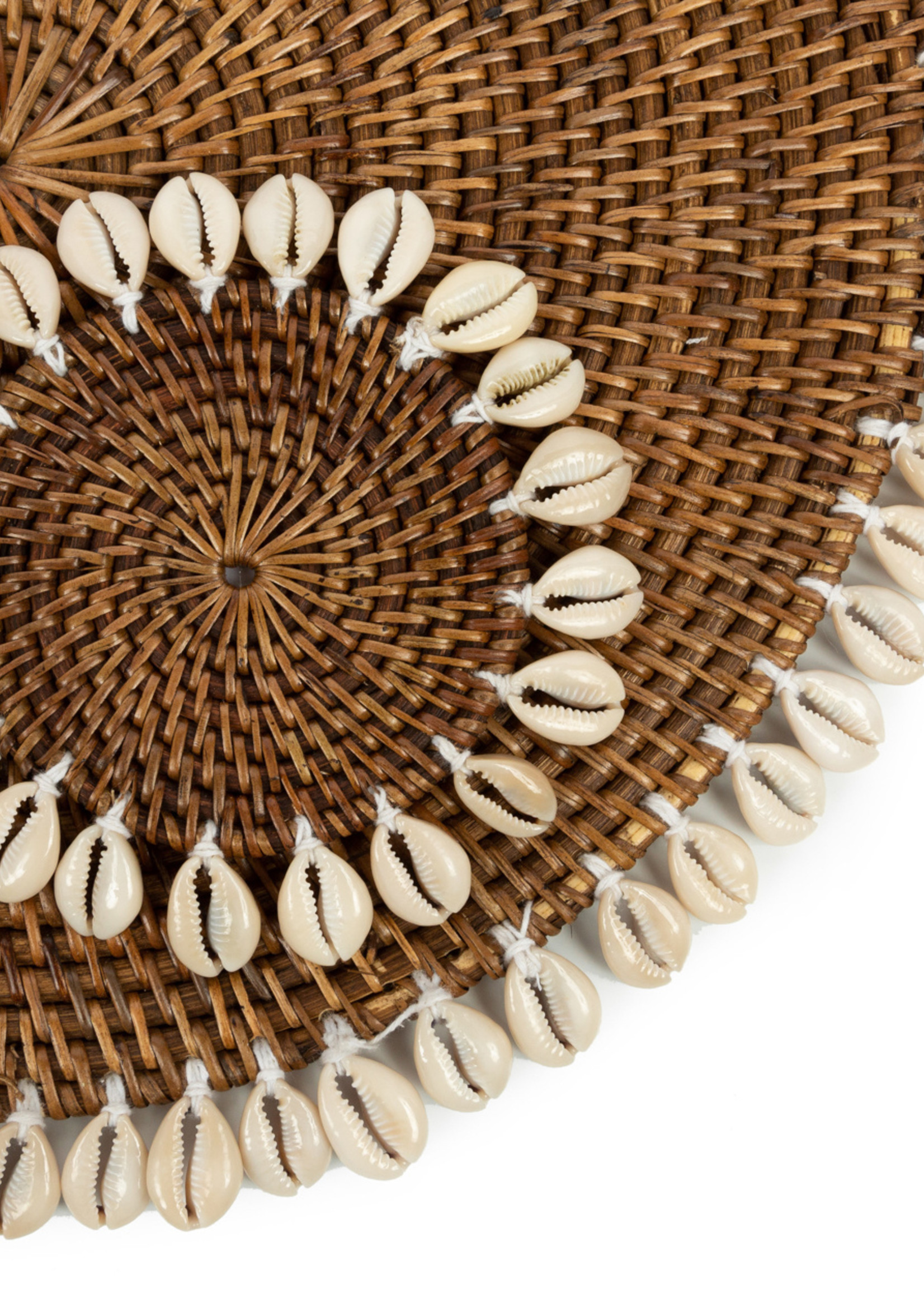 The Colonial Shell Coaster - Natural Brown