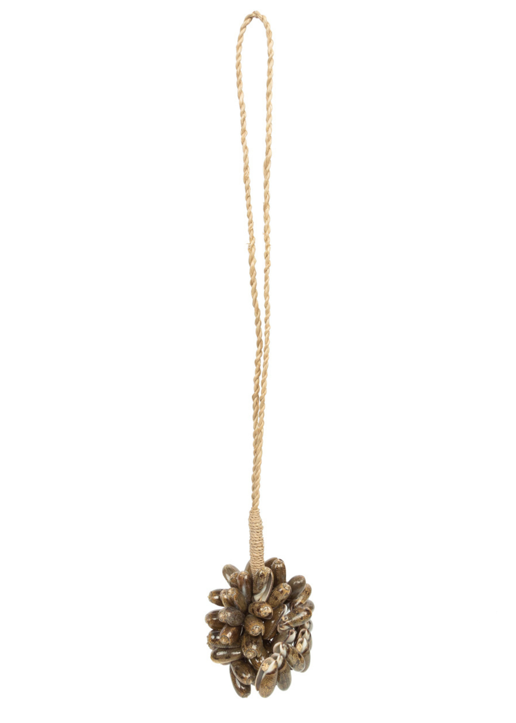 The Brown Cowrie Shell tassel