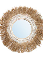 The Raffia Ginger Mirror