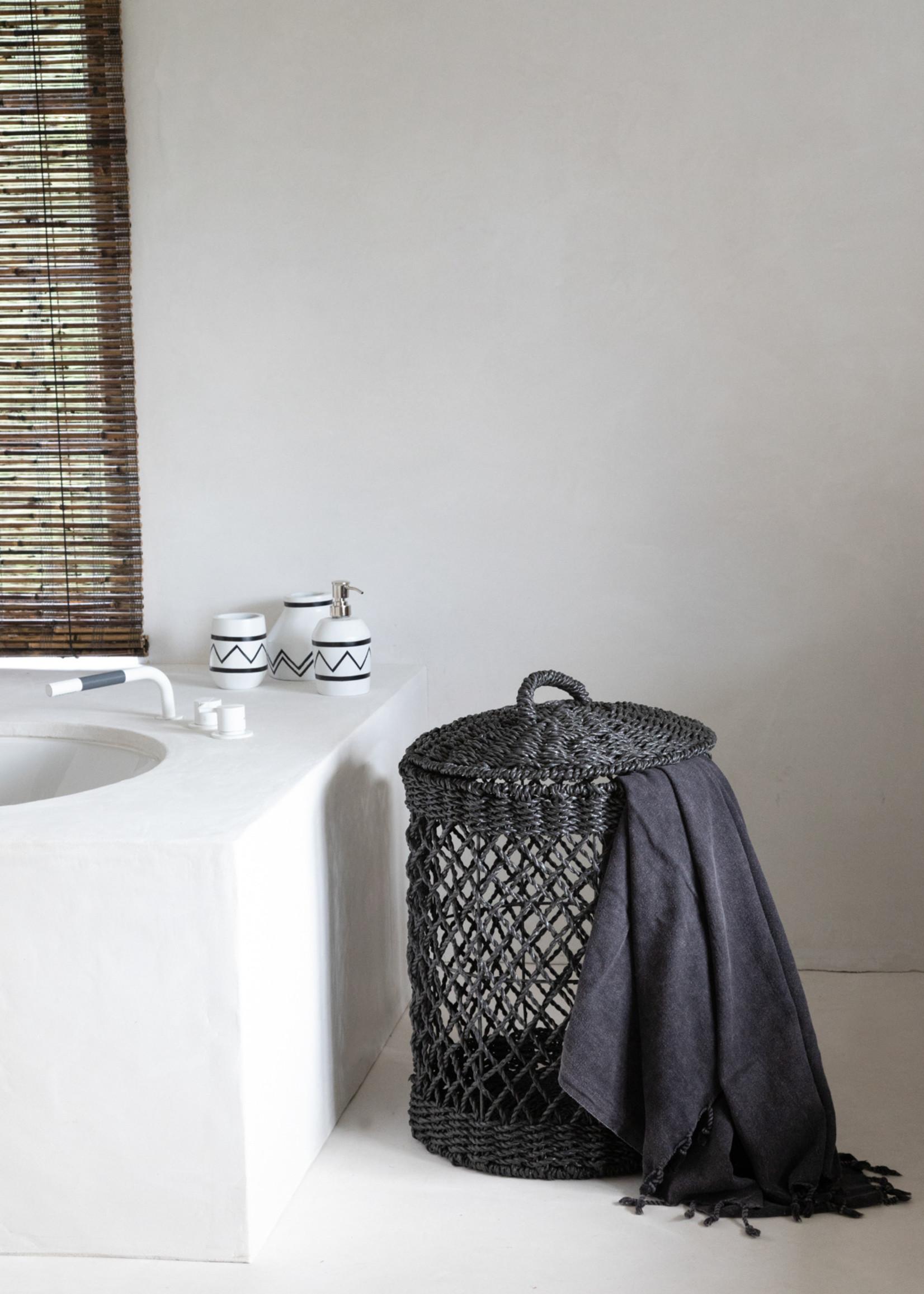 The Santorini Dispenser -  White Black