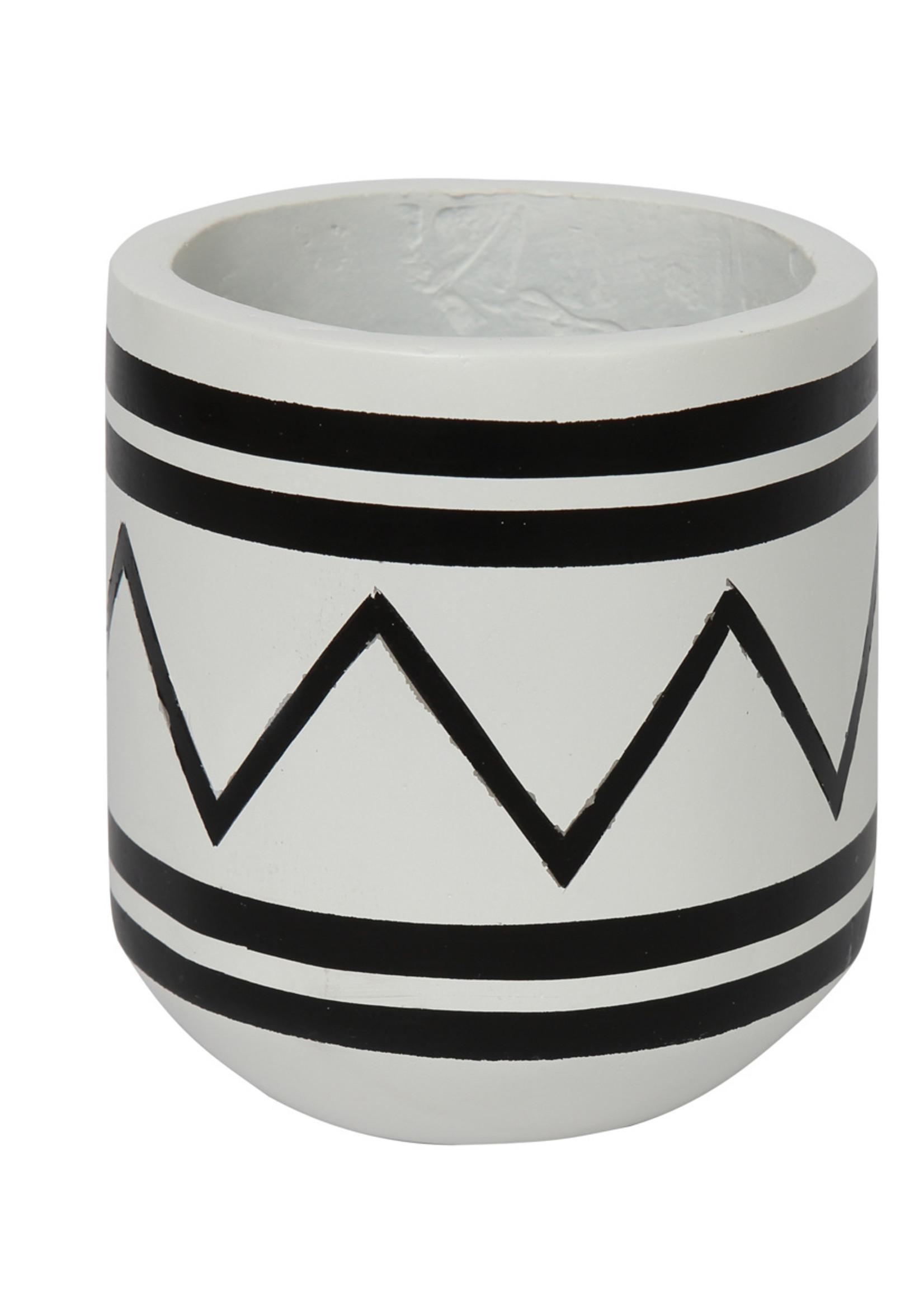 The Santorini Planter  -  White Black