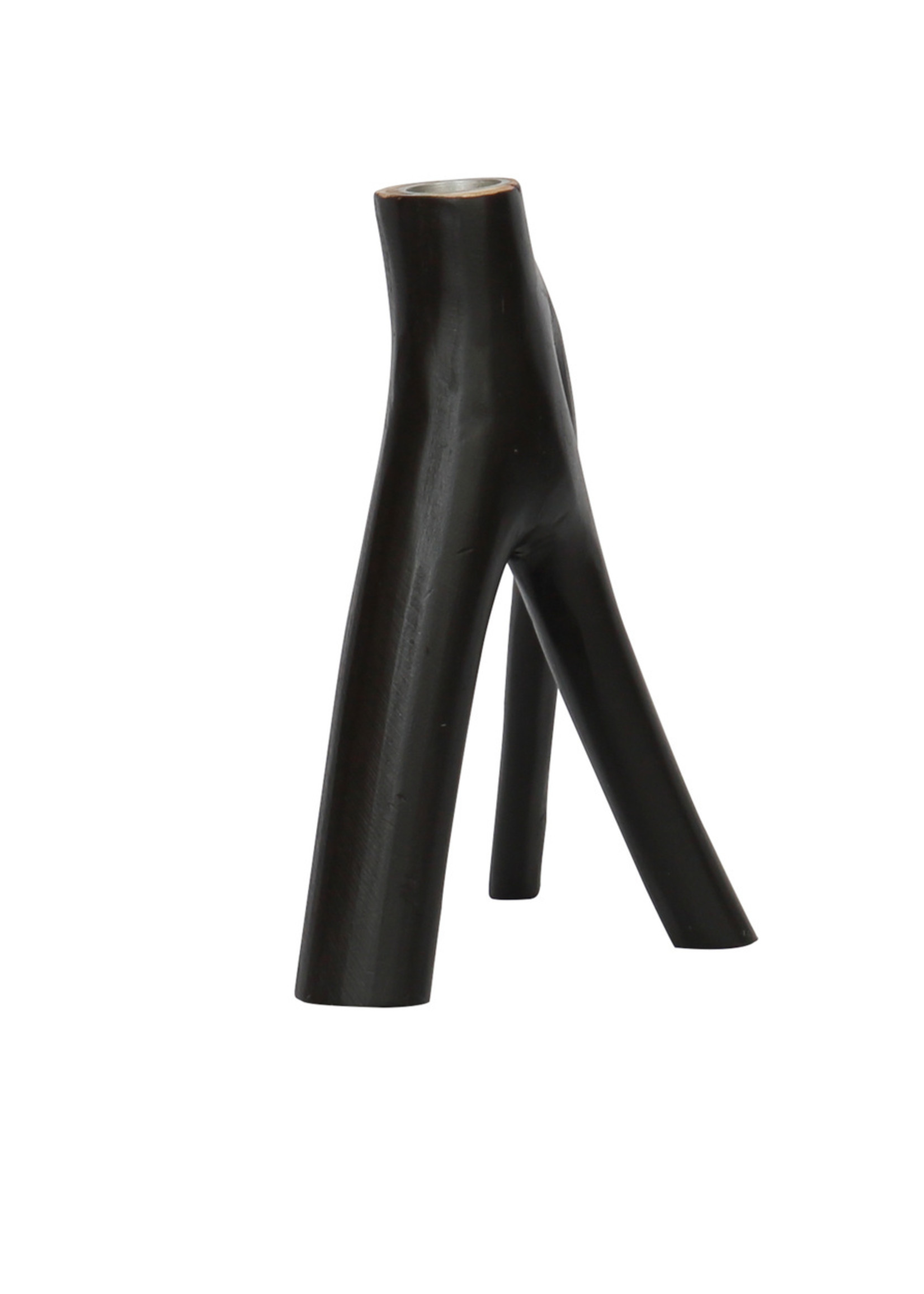 The Triple Twig Candle Holder - Black