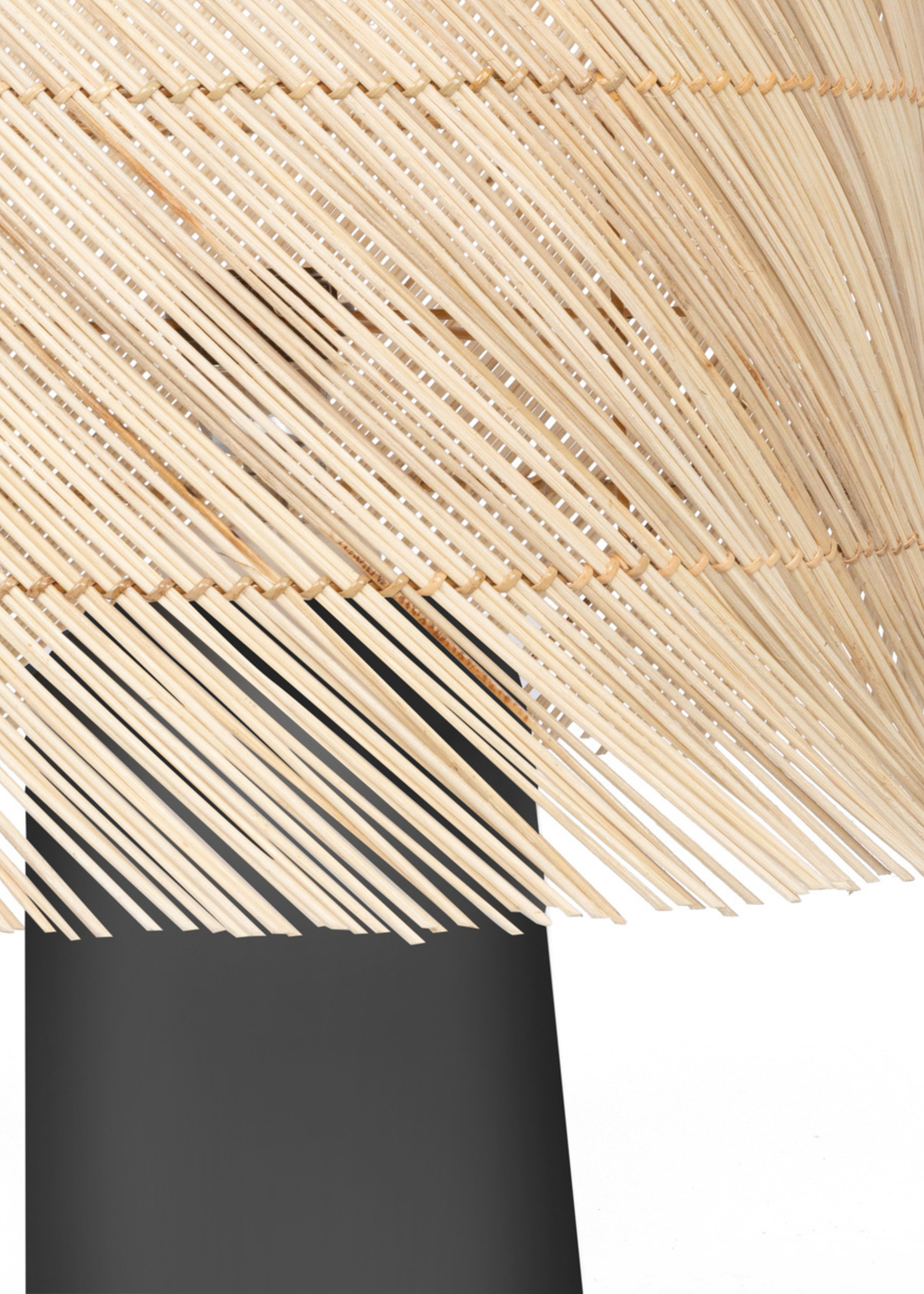 The Rattan Table Lamp - Black Natural