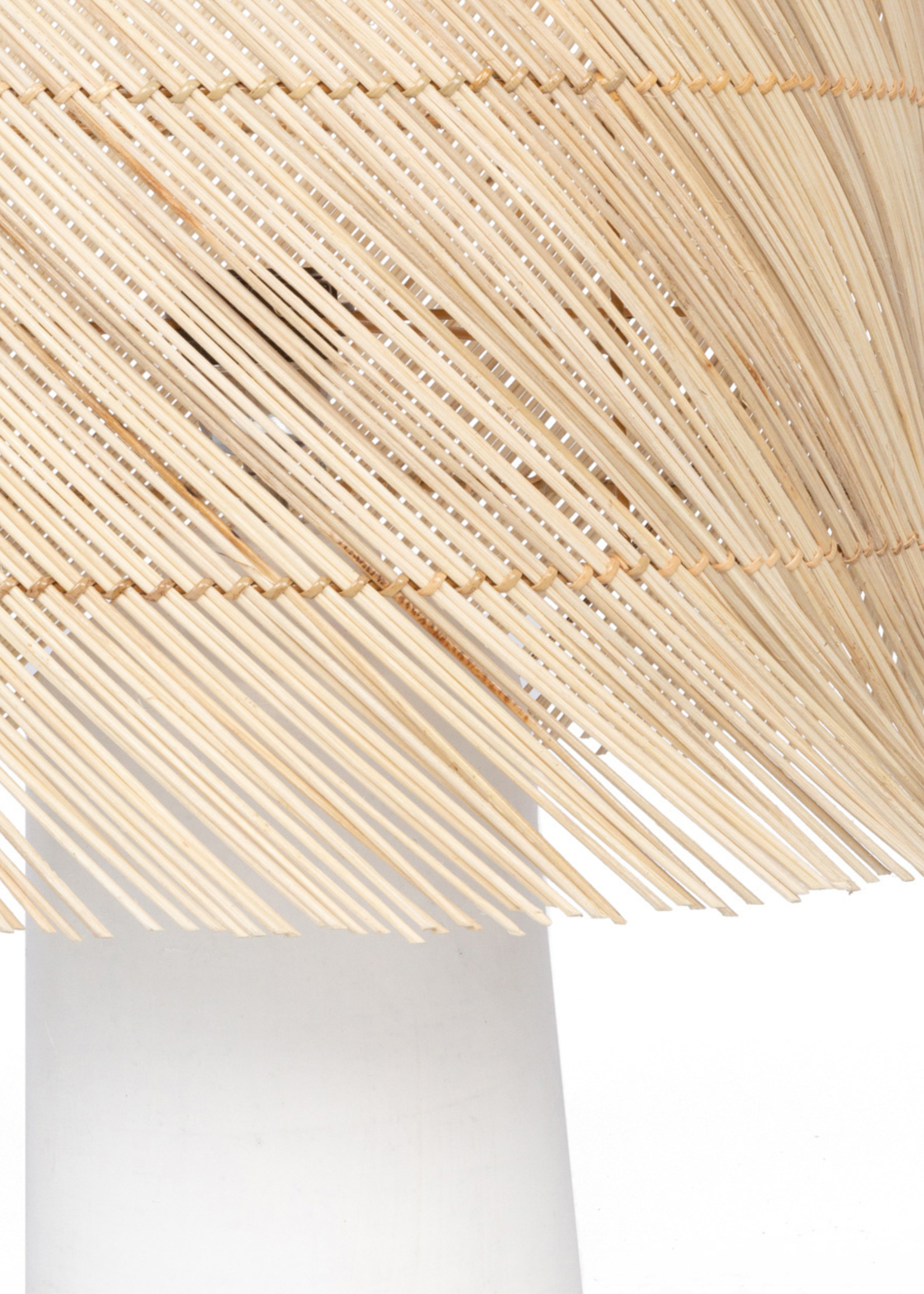 The Rattan Table Lamp - White Natural