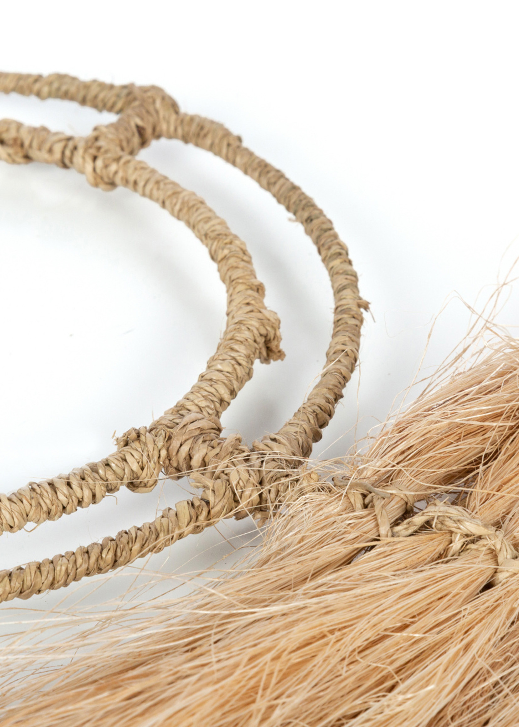 The Abaca Quirky Leaf - Natural - L